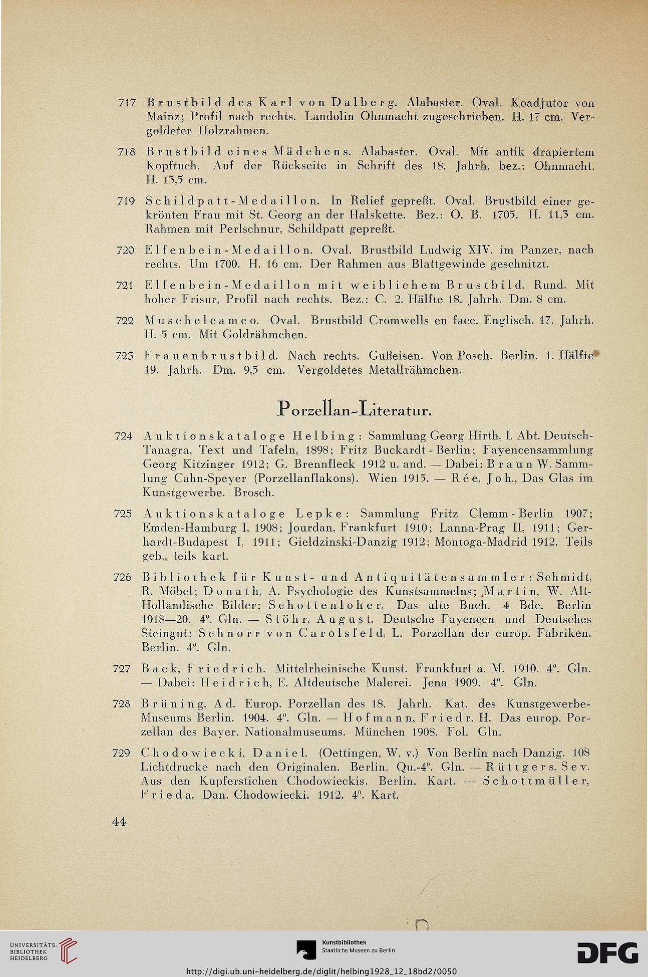 Hugo Helbing <München> [Hrsg.]; Ostermann, Paul [Bearb.]: Sammlung ...