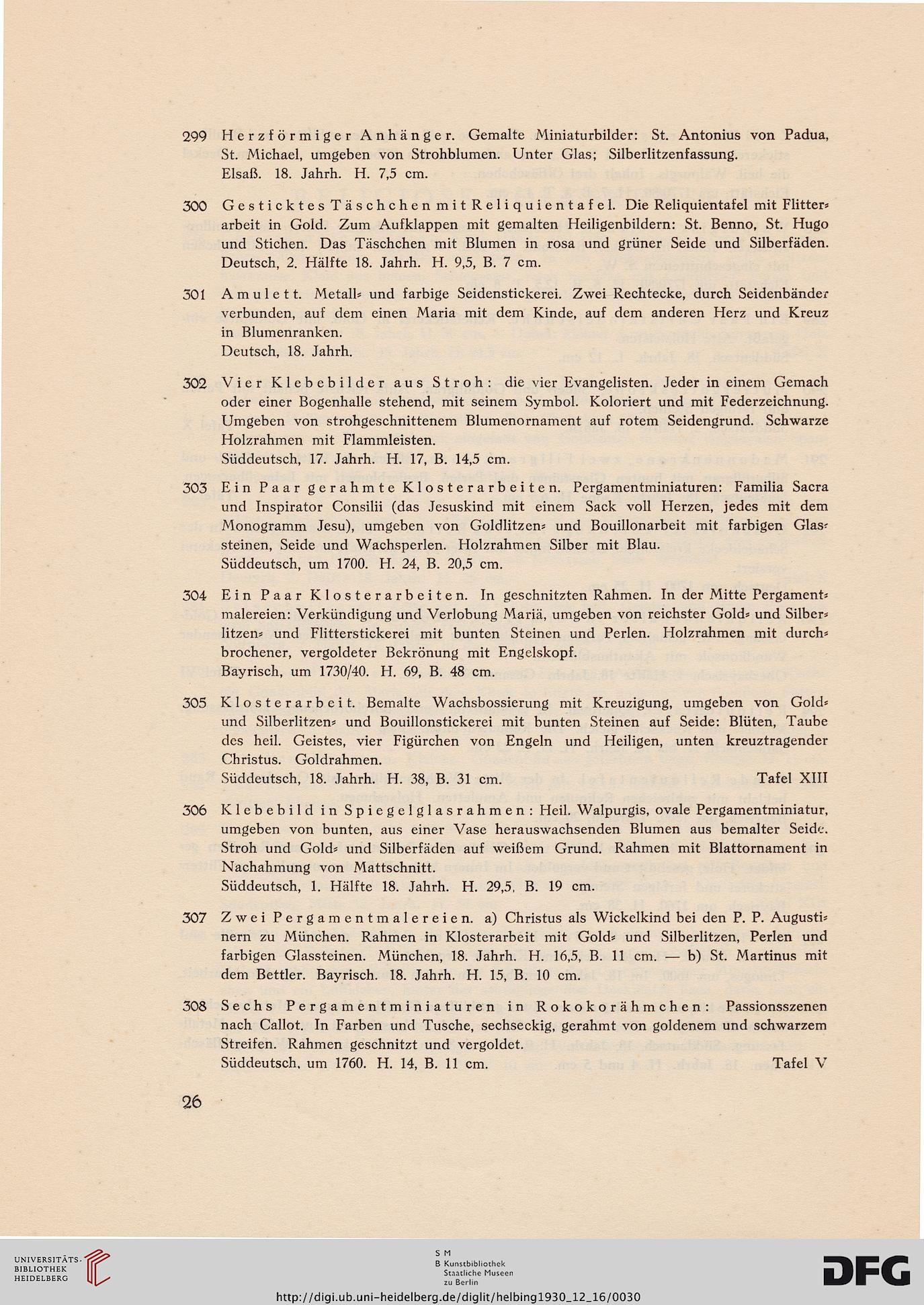 Hugo Helbing <München> [Hrsg.]: Sammlung Architekt A. Bleibinhaus ...
