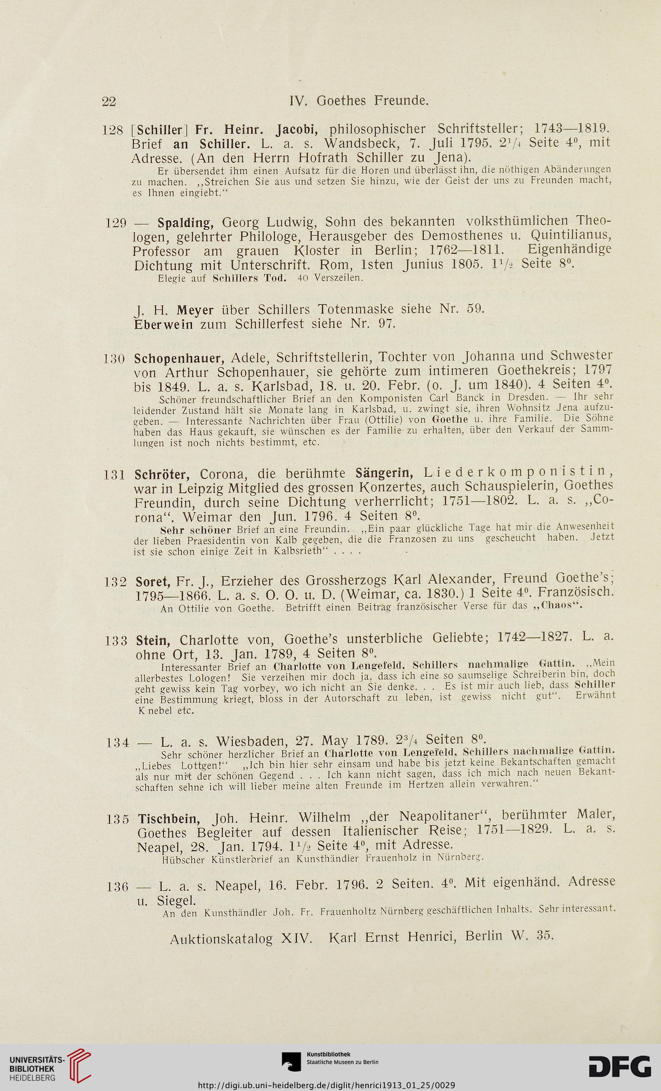 Karl Ernst Henrici Berlin Hrsg Briefe Von Und An Goethe