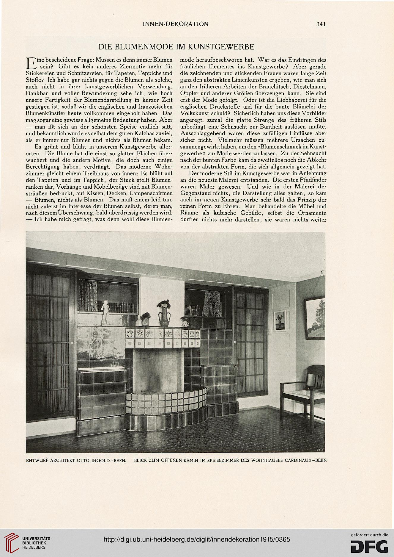 Innendekoration: Mein Heim, Mein Stolz ; Die Gesamte Wohnungskunst In Bild  Und Wort (26.1915)