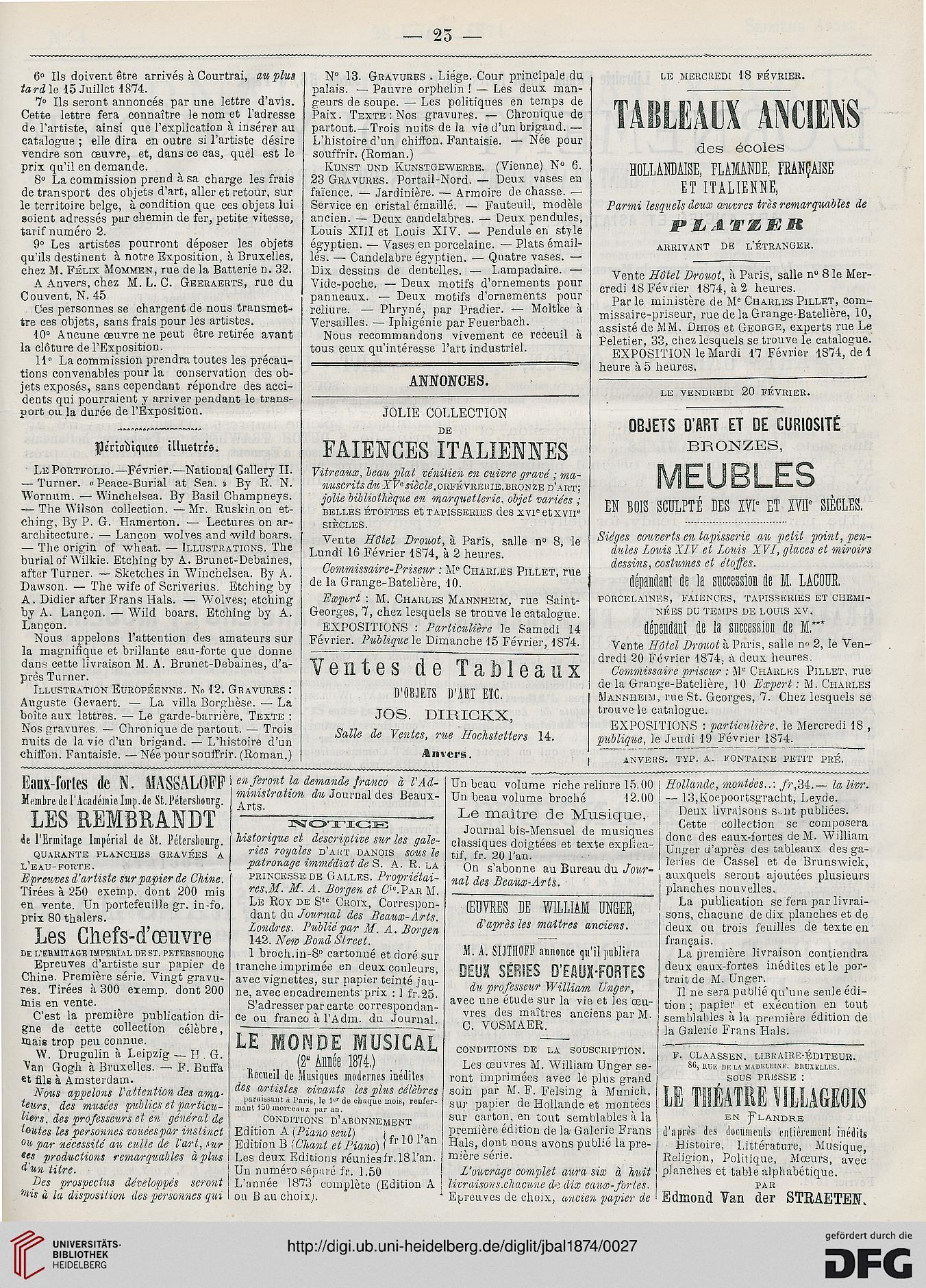 Journal des beaux arts et de la littérature 20.20