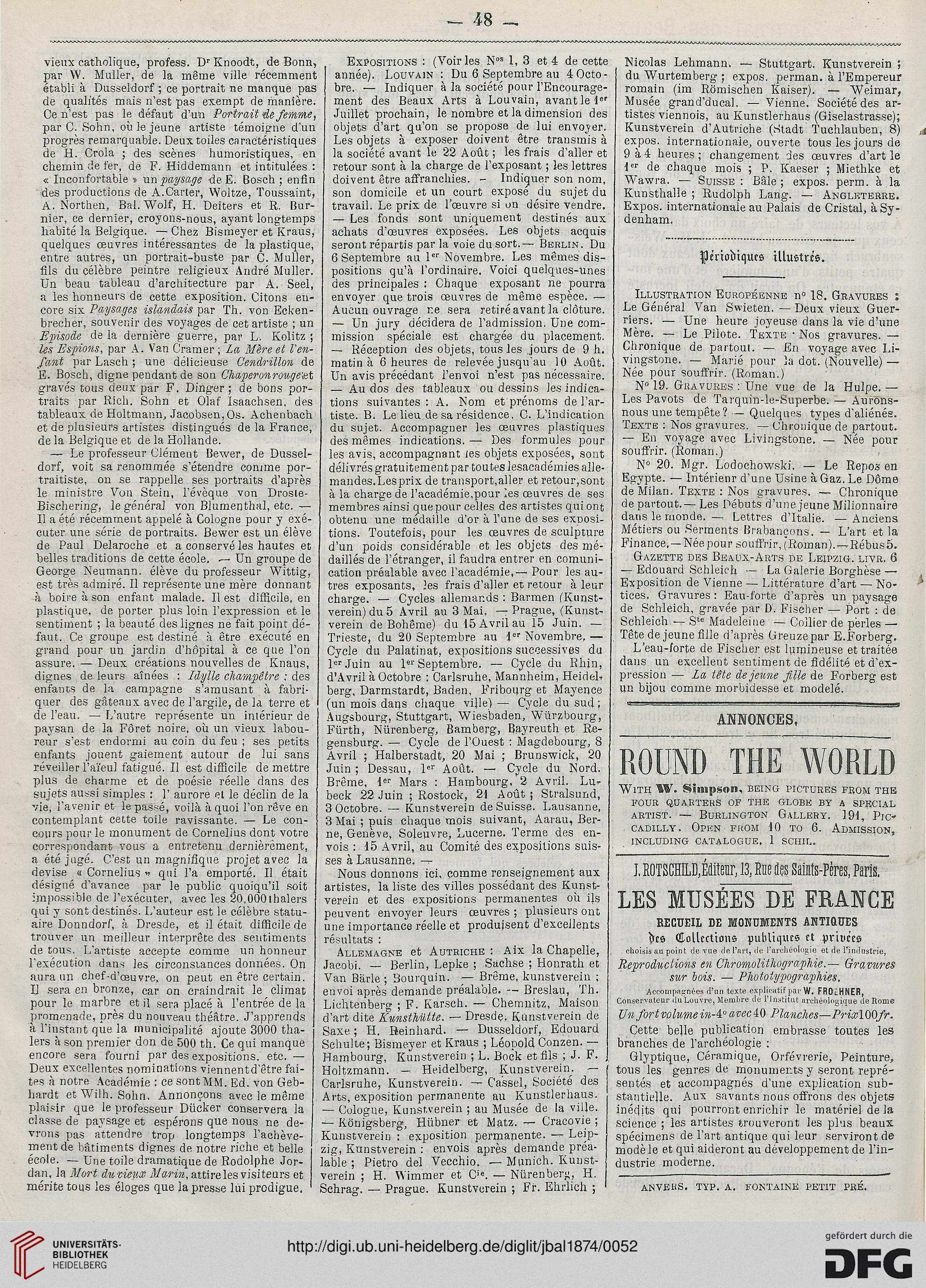 Beaux 1874 La Journal Des Et Arts Littérature16 De 54AjRq3L