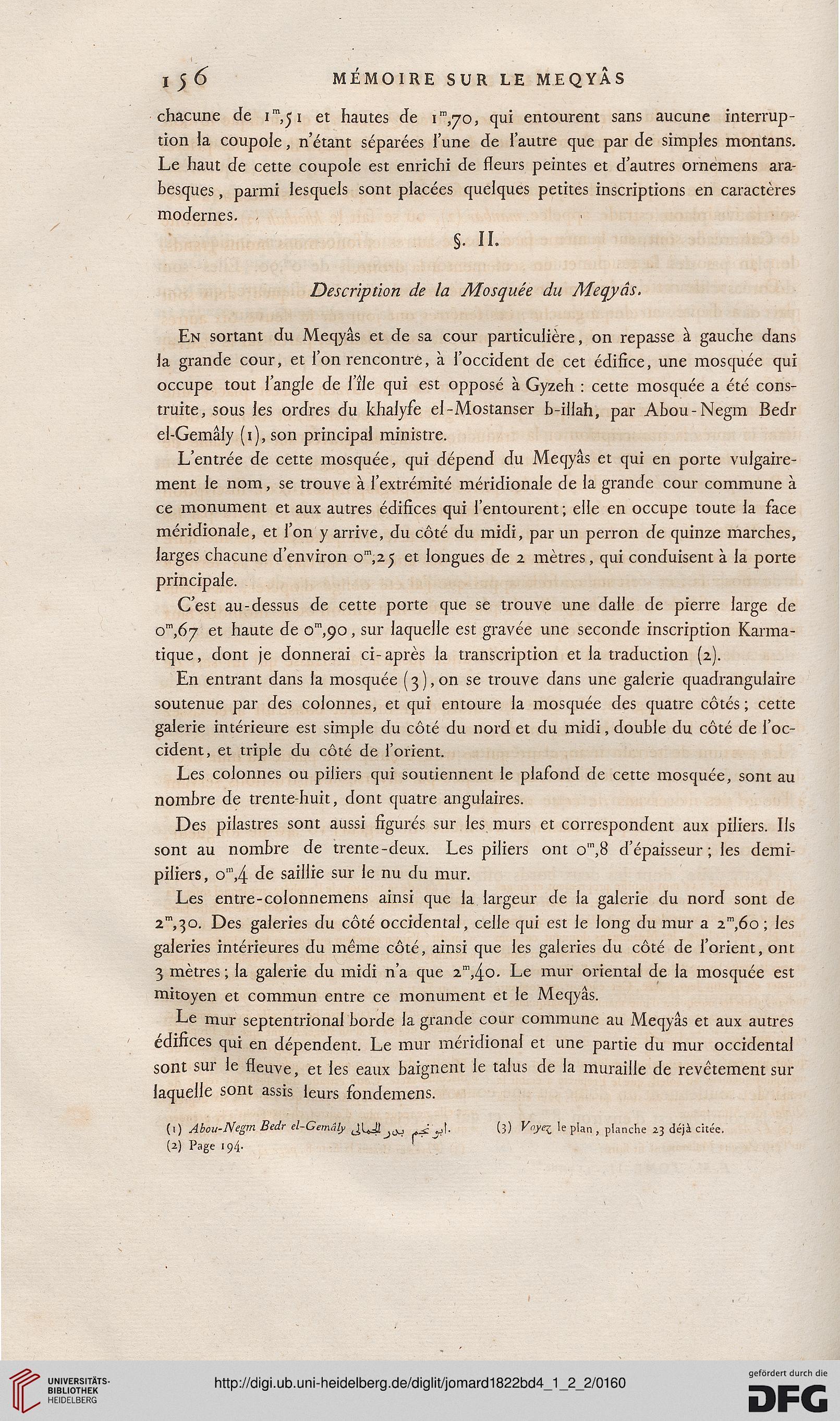 Jomard, Edme François [Hrsg.]: Description de l\'Égypte: ou ...