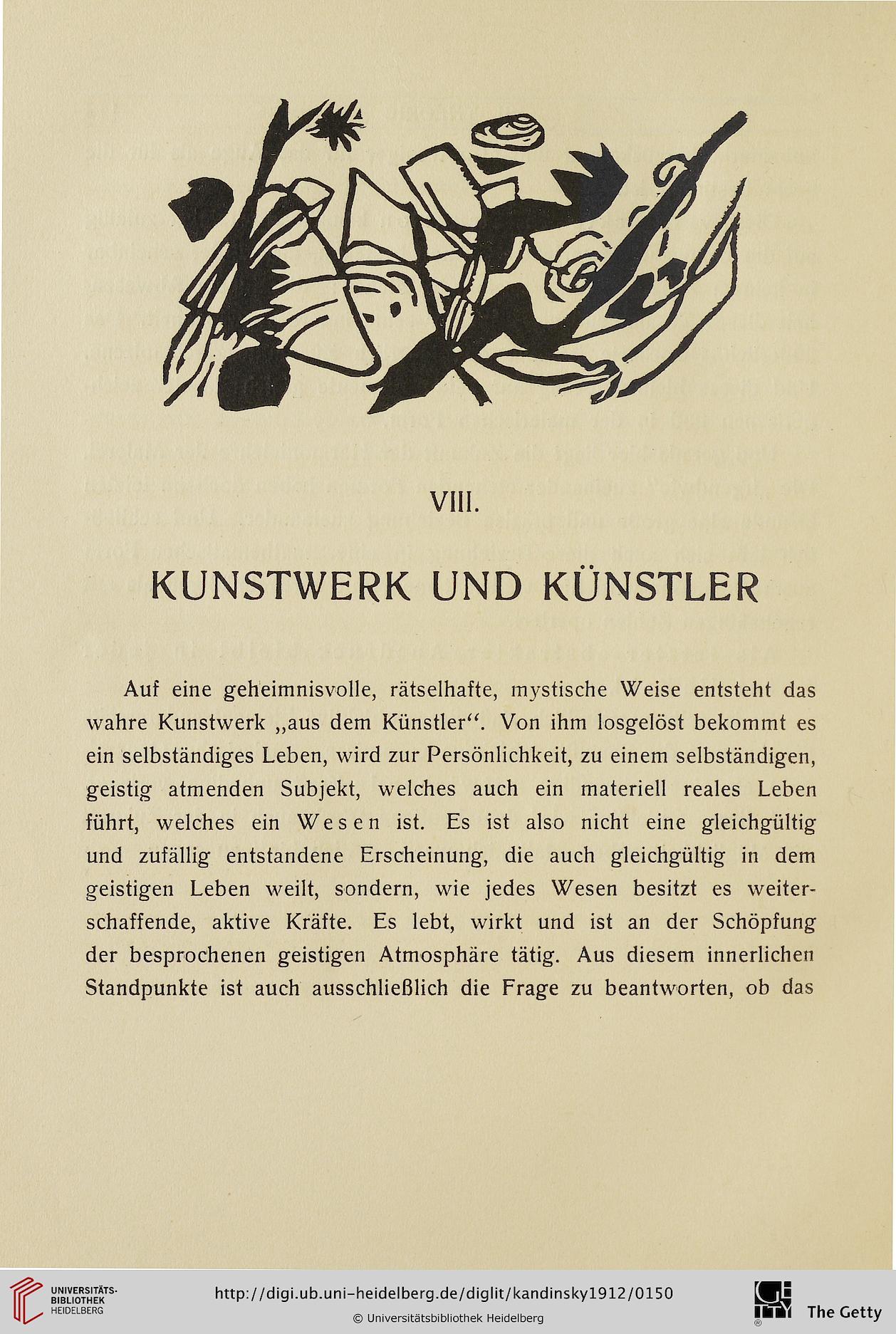 Künstler Heidelberg kandinsky wassily über das geistige in der kunst insbesondere in