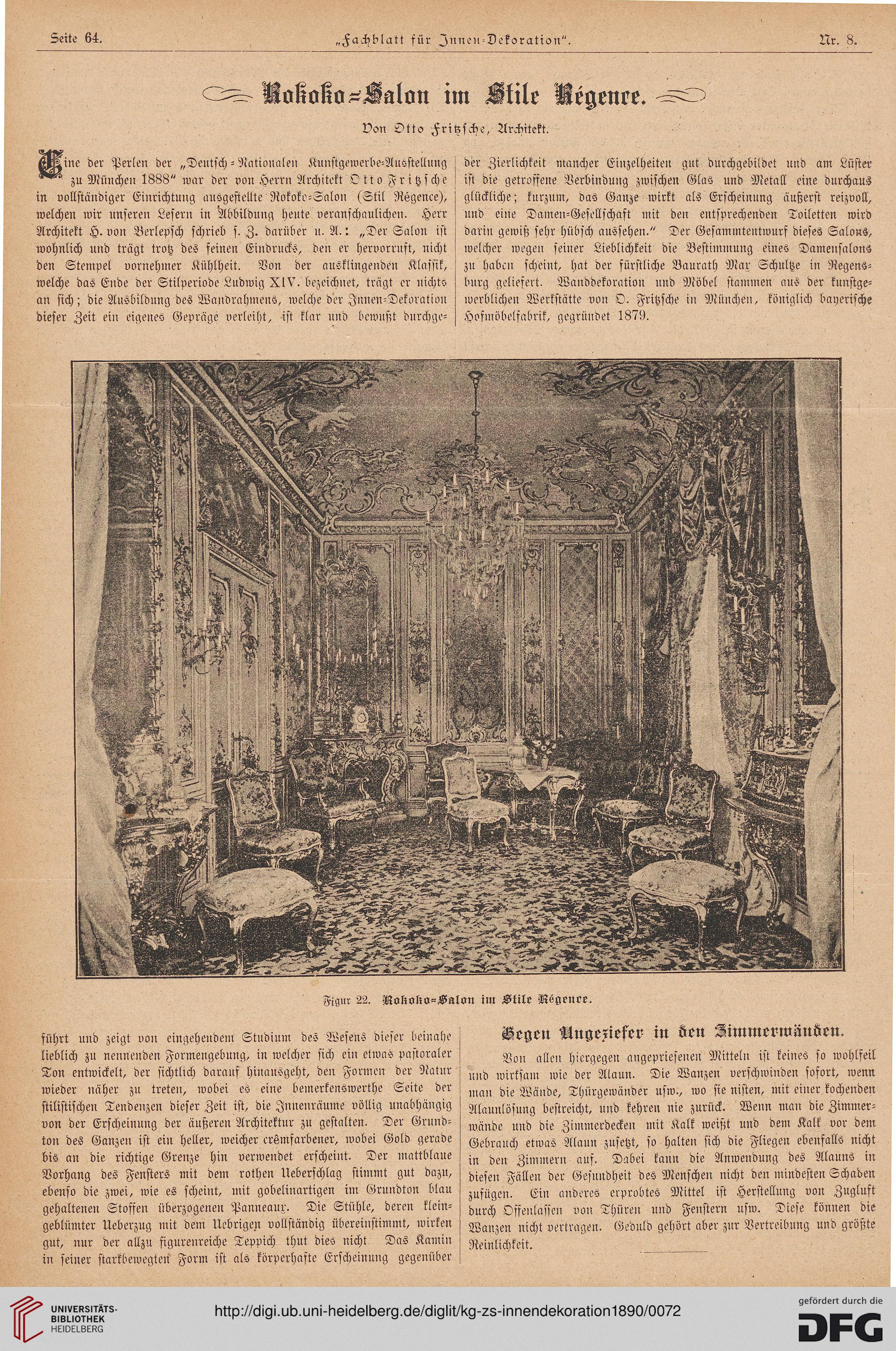 Illustrirte kunstgewerbliche Zeitschrift für Innendekoration (1.1890)