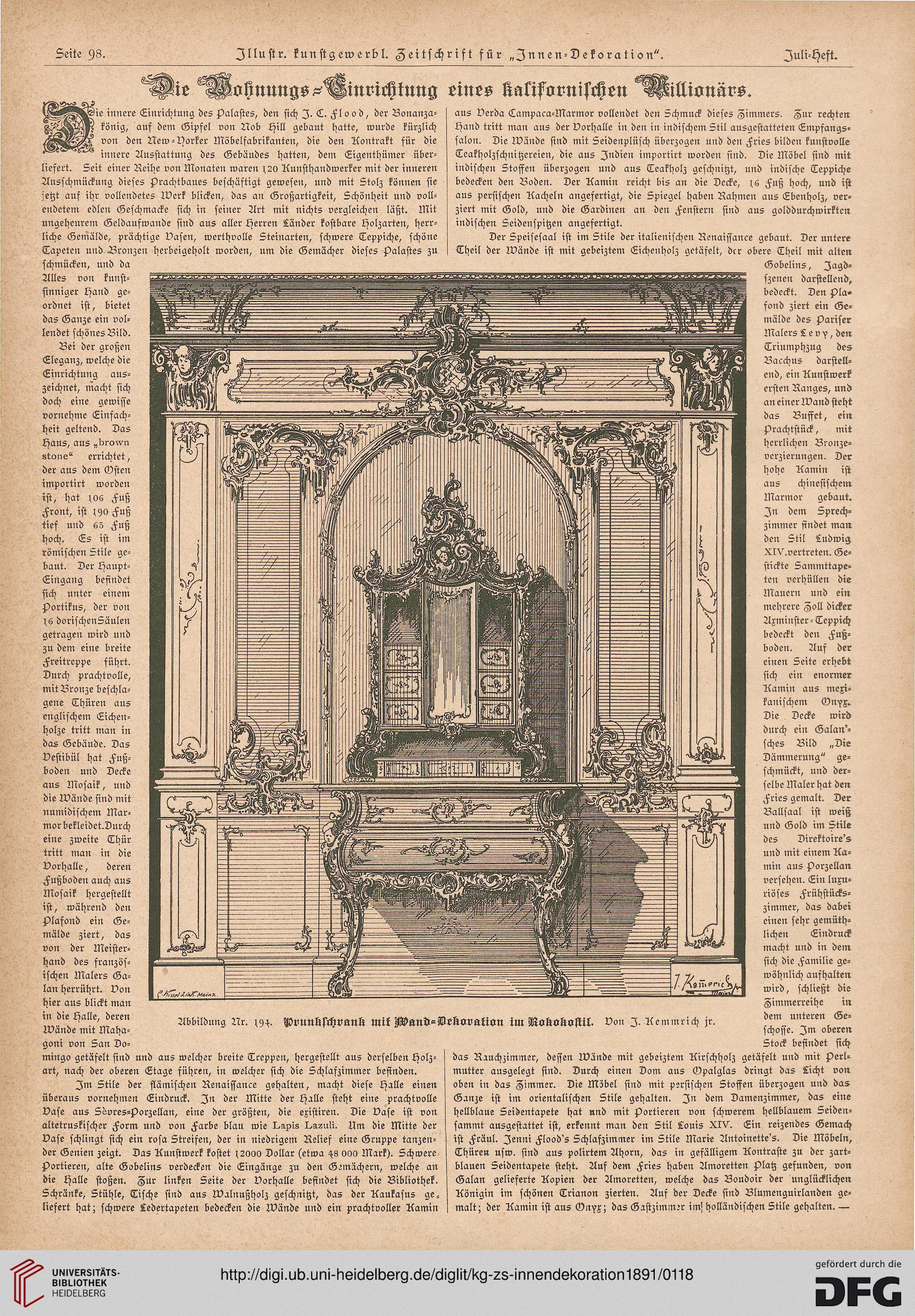 Illustrirte kunstgewerbliche Zeitschrift für Innendekoration (2.1891)