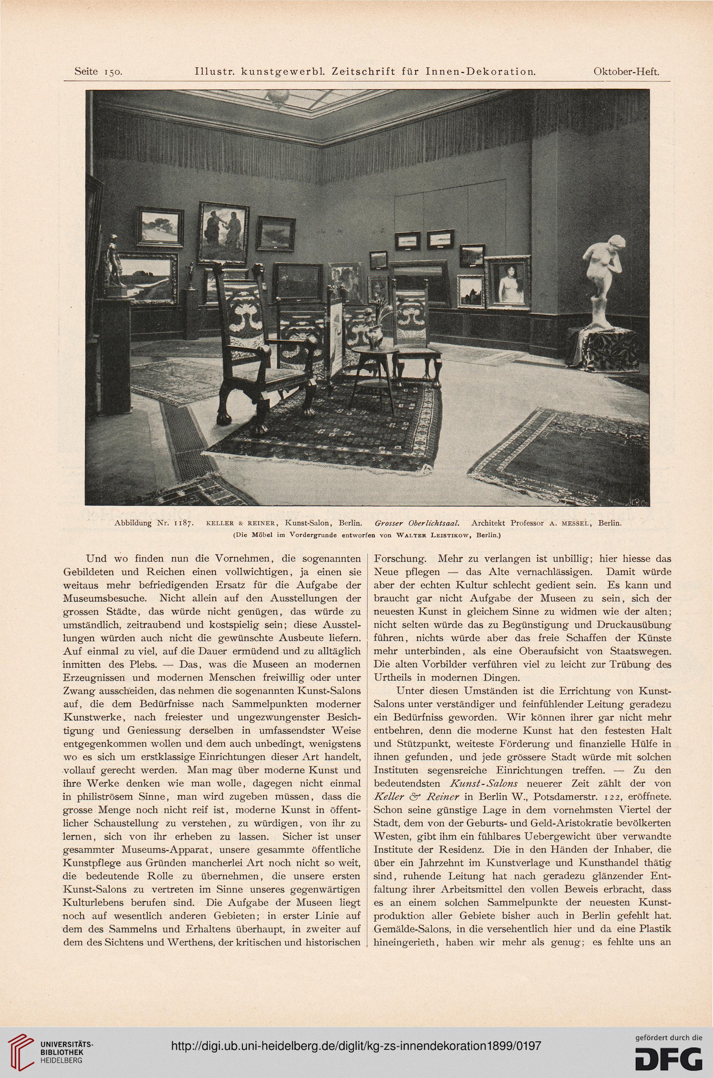 Illustrirte kunstgewerbliche zeitschrift f r for Innendekoration berlin