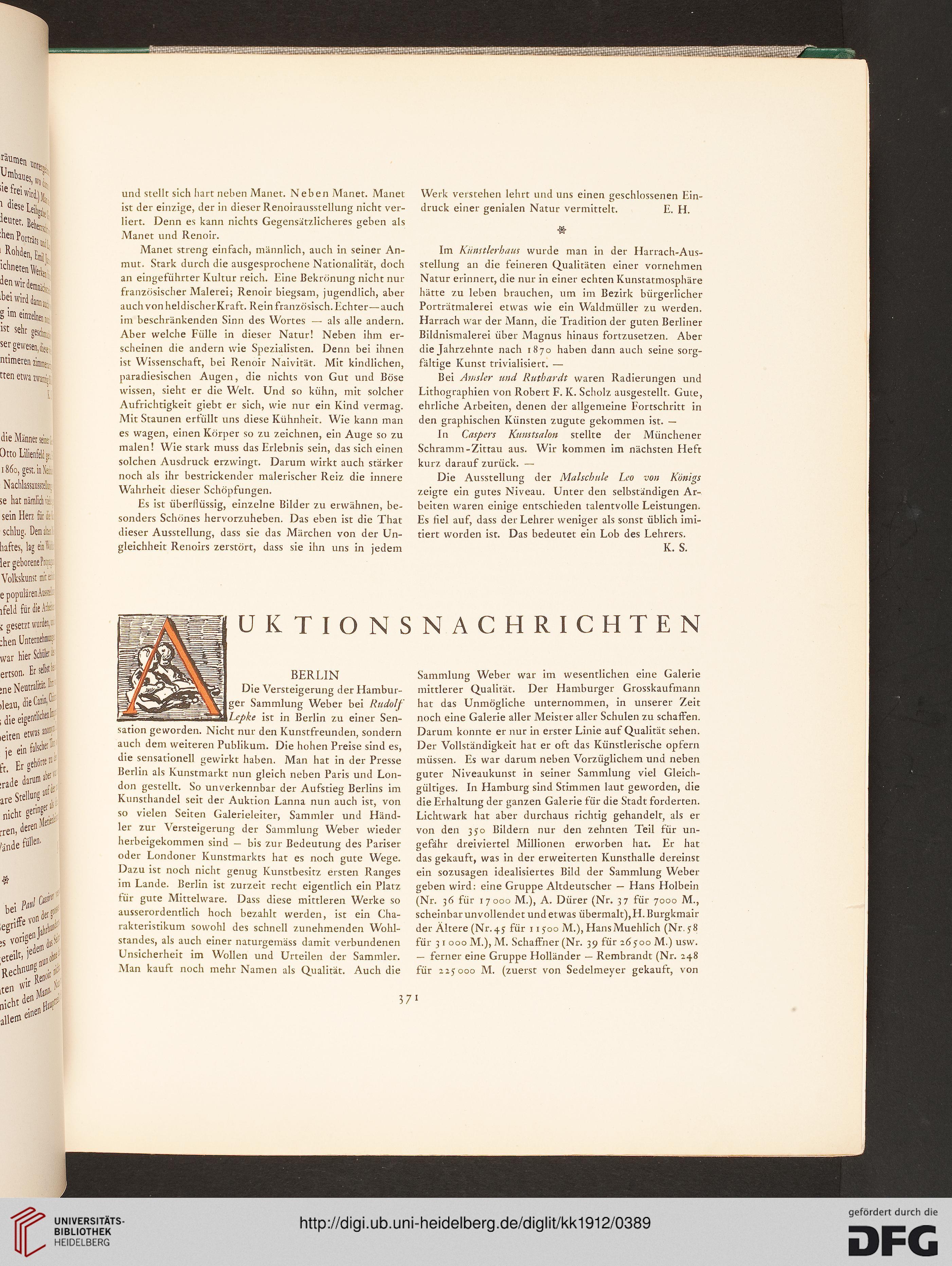 Kunst Und Künstler Illustrierte Monatsschrift Für Bildende Kunst