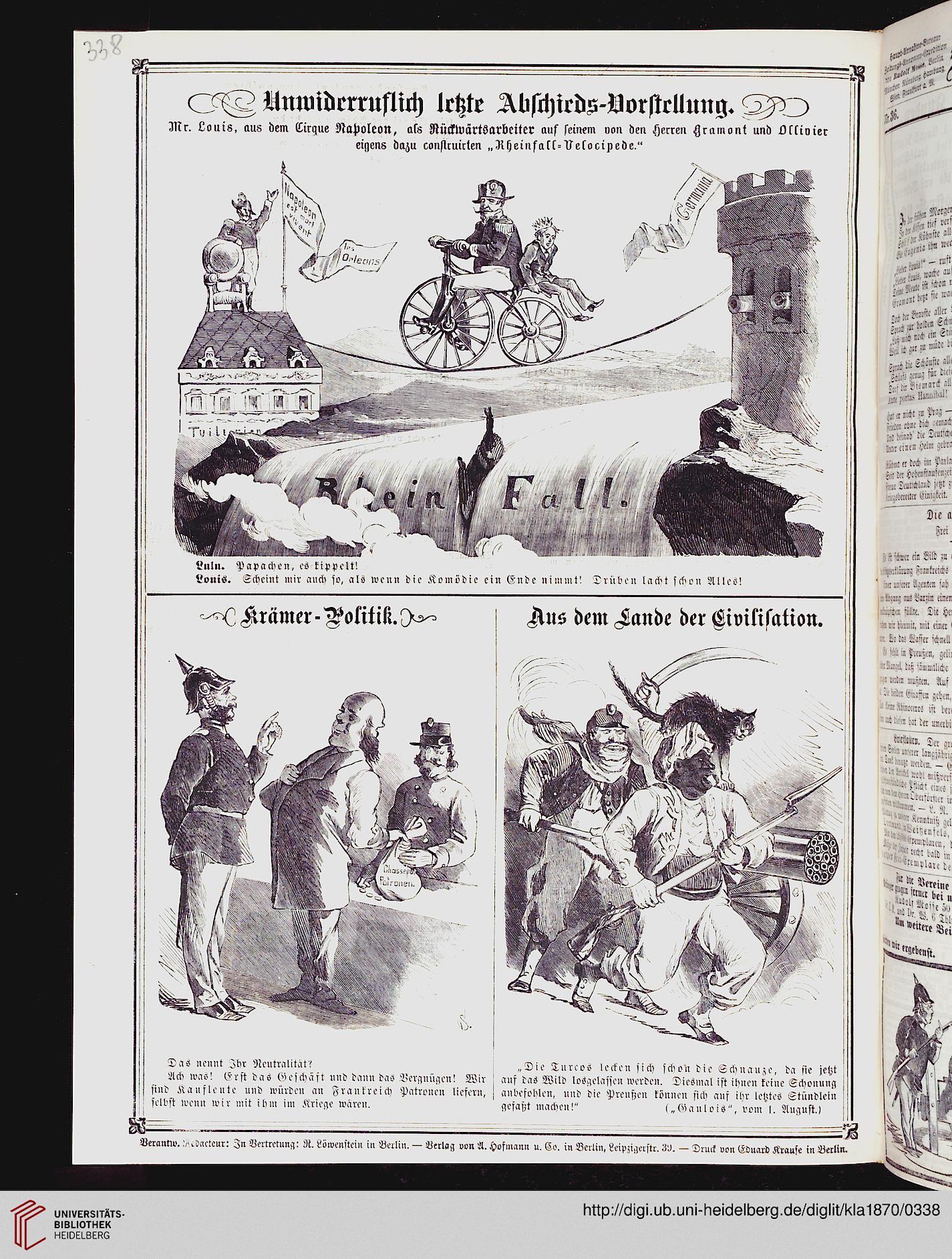 Kladderadatsch: Humoristisch-satirisches Wochenblatt (23 1870)