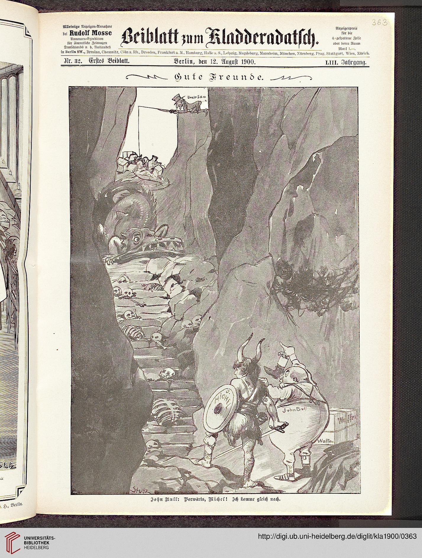 Kladderadatsch (Beiblatt), 12.8. 1900