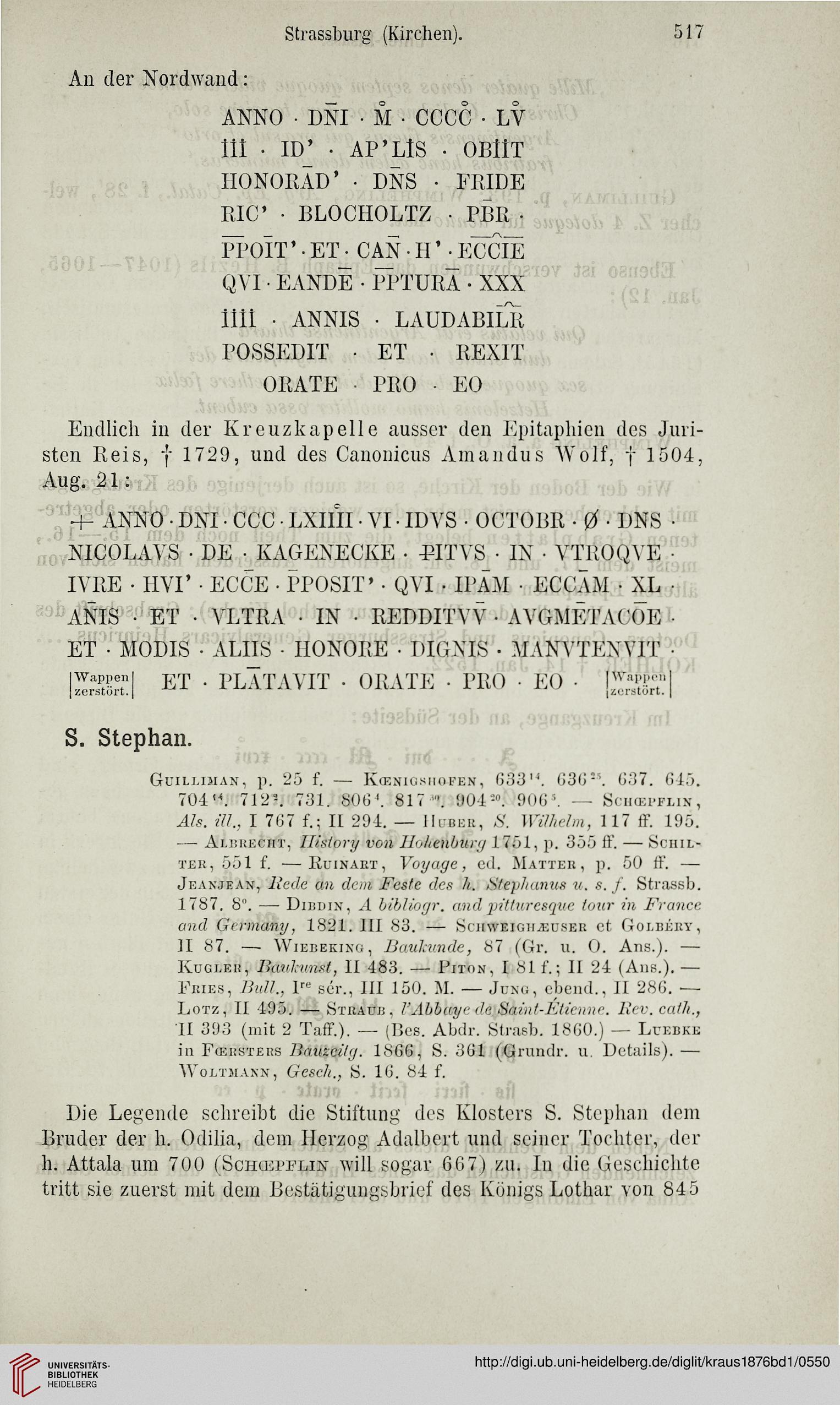 Kraus, Franz Xaver [Hrsg.]: Kunst und Alterthum in Elsass-Lothringen ...