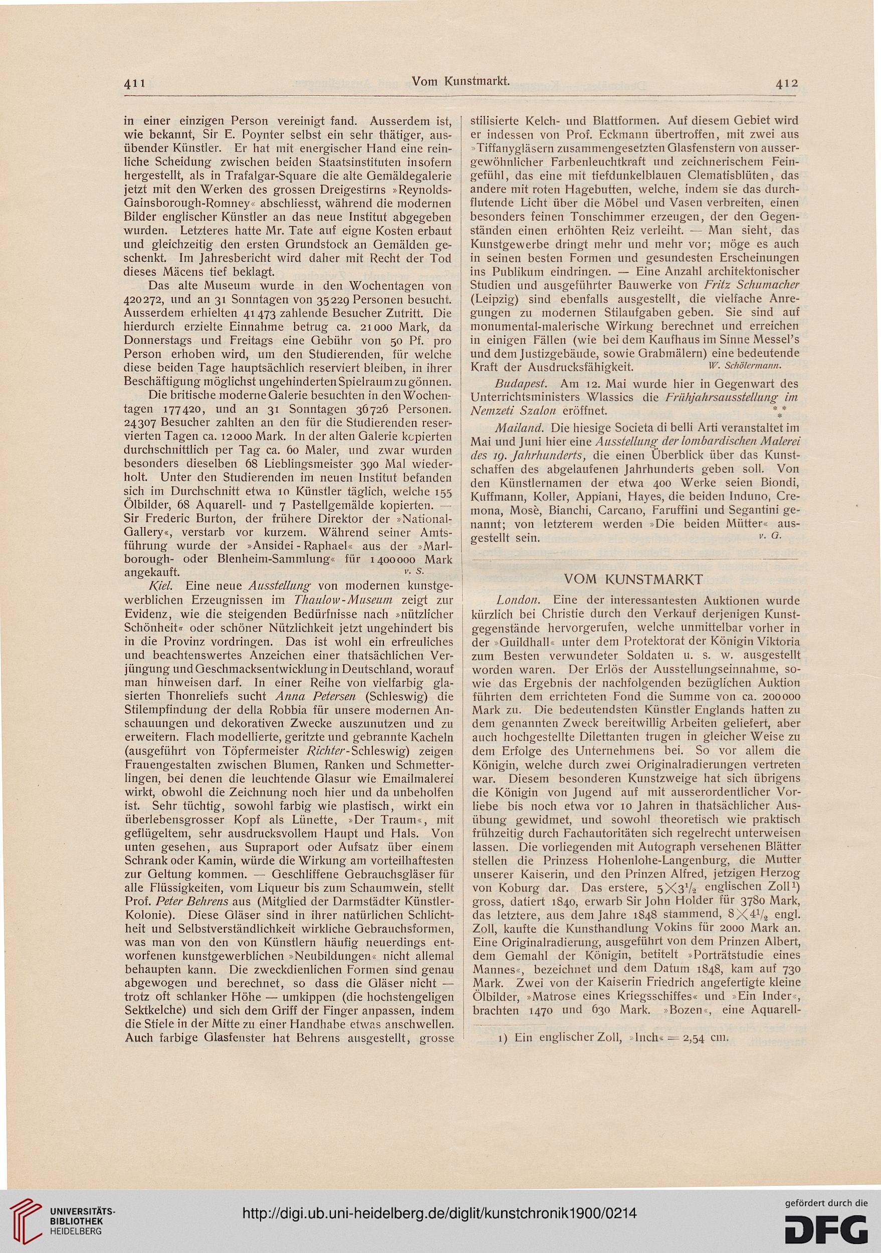 Kunstchronik Wochenschrift Für Kunst Und Kunstgewerbe Nf 111900