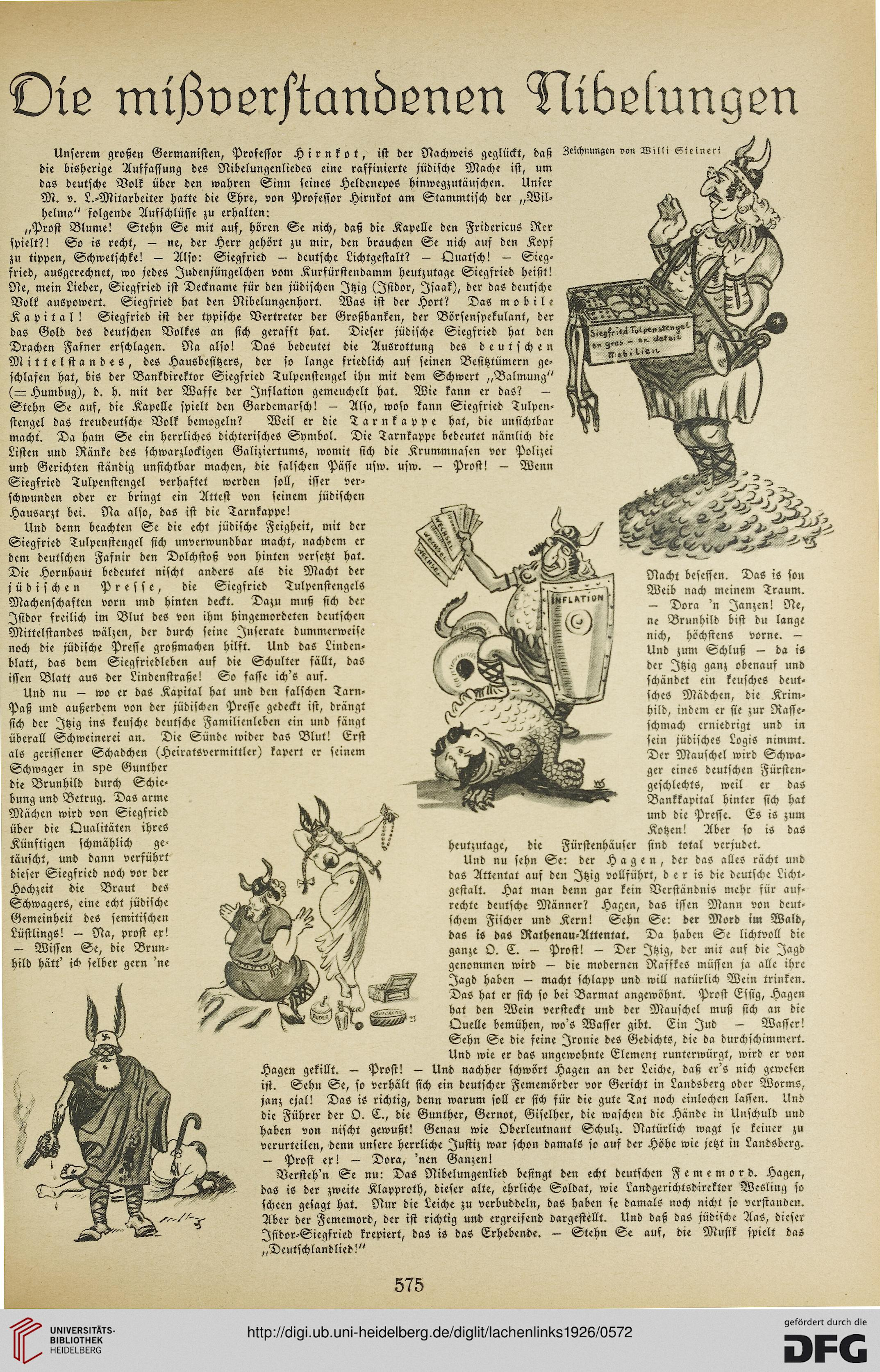 Lachen links: das republikanische Witzblatt (3.1926)
