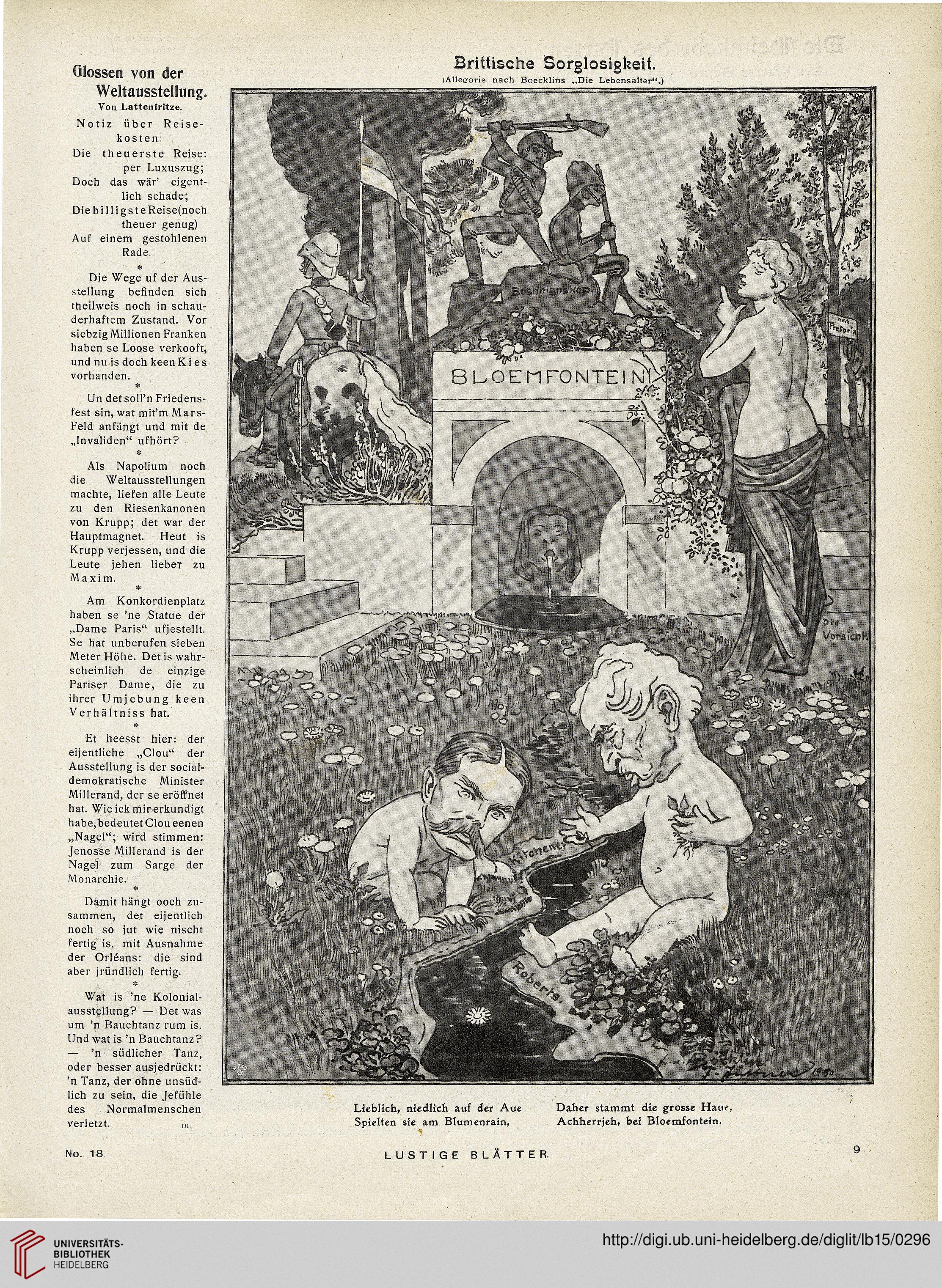 Lustige Blatter Schonstes Buntes Witzblatt Deutschlands 15 1900