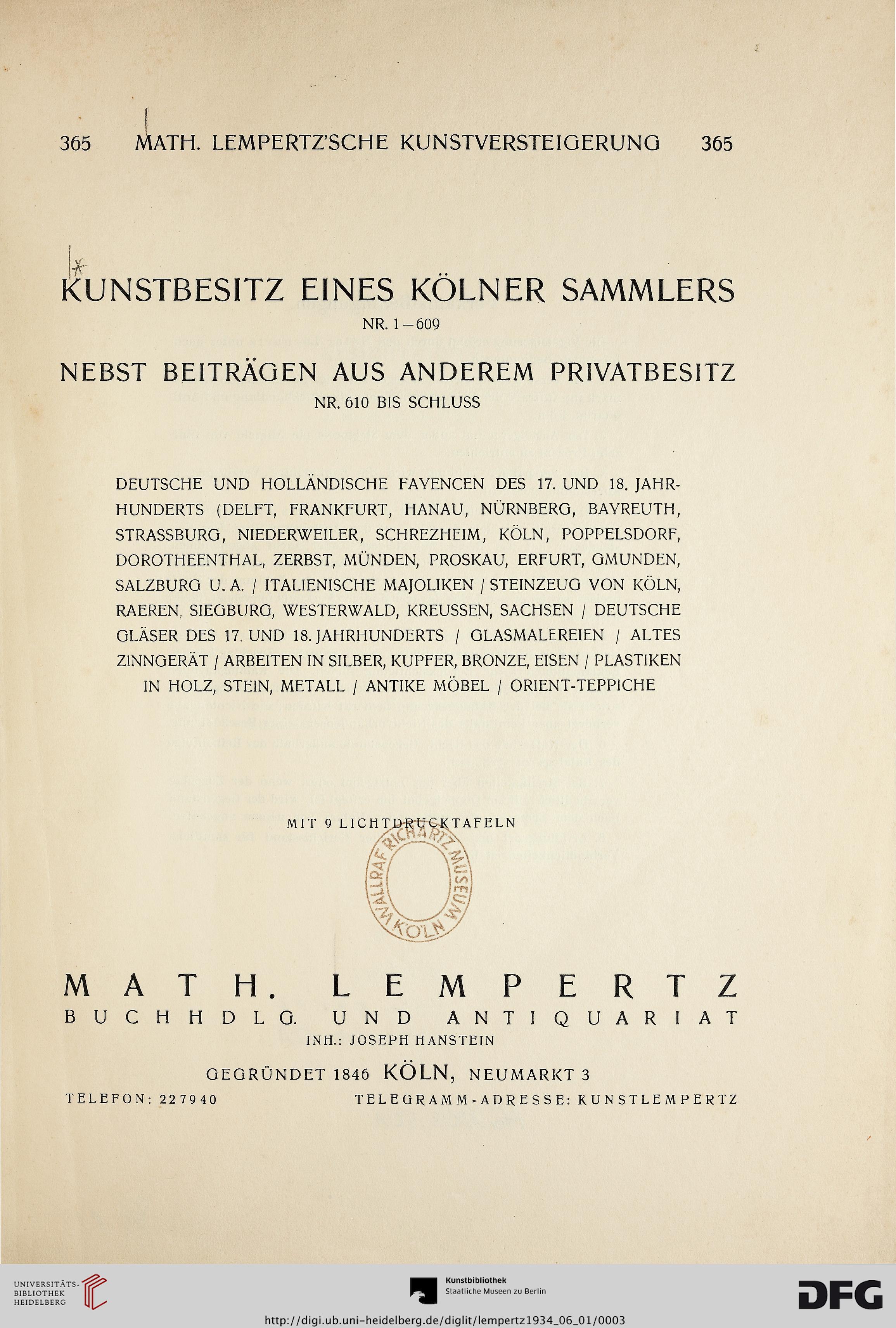 Kunsthaus Lempertz Köln