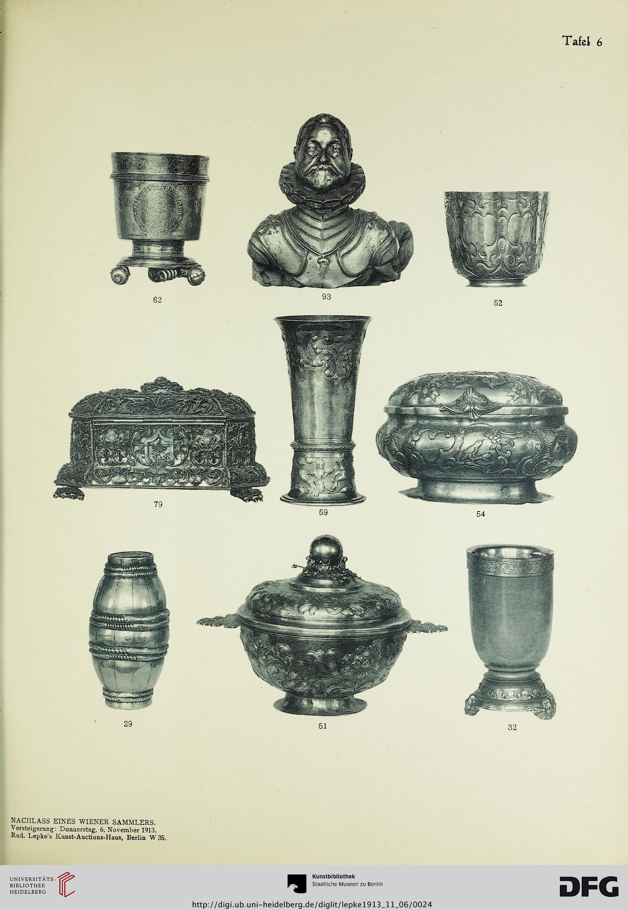 rudolph lepke 39 s kunst auctions haus hrsg silberne. Black Bedroom Furniture Sets. Home Design Ideas