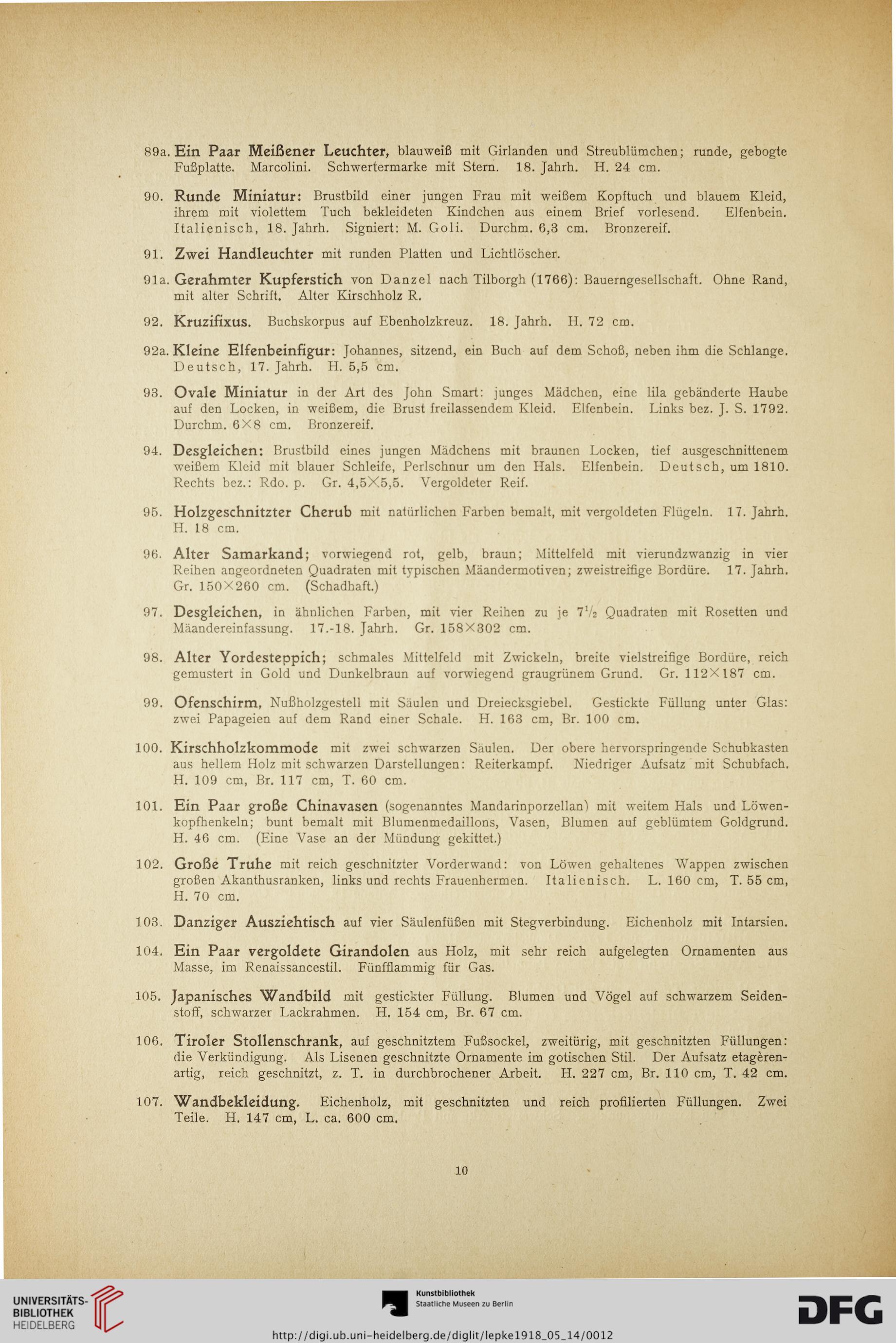 Rudolph Lepke\'s Kunst-Auctions-Haus <Berlin> [Hrsg.]: Antiquitäten ...