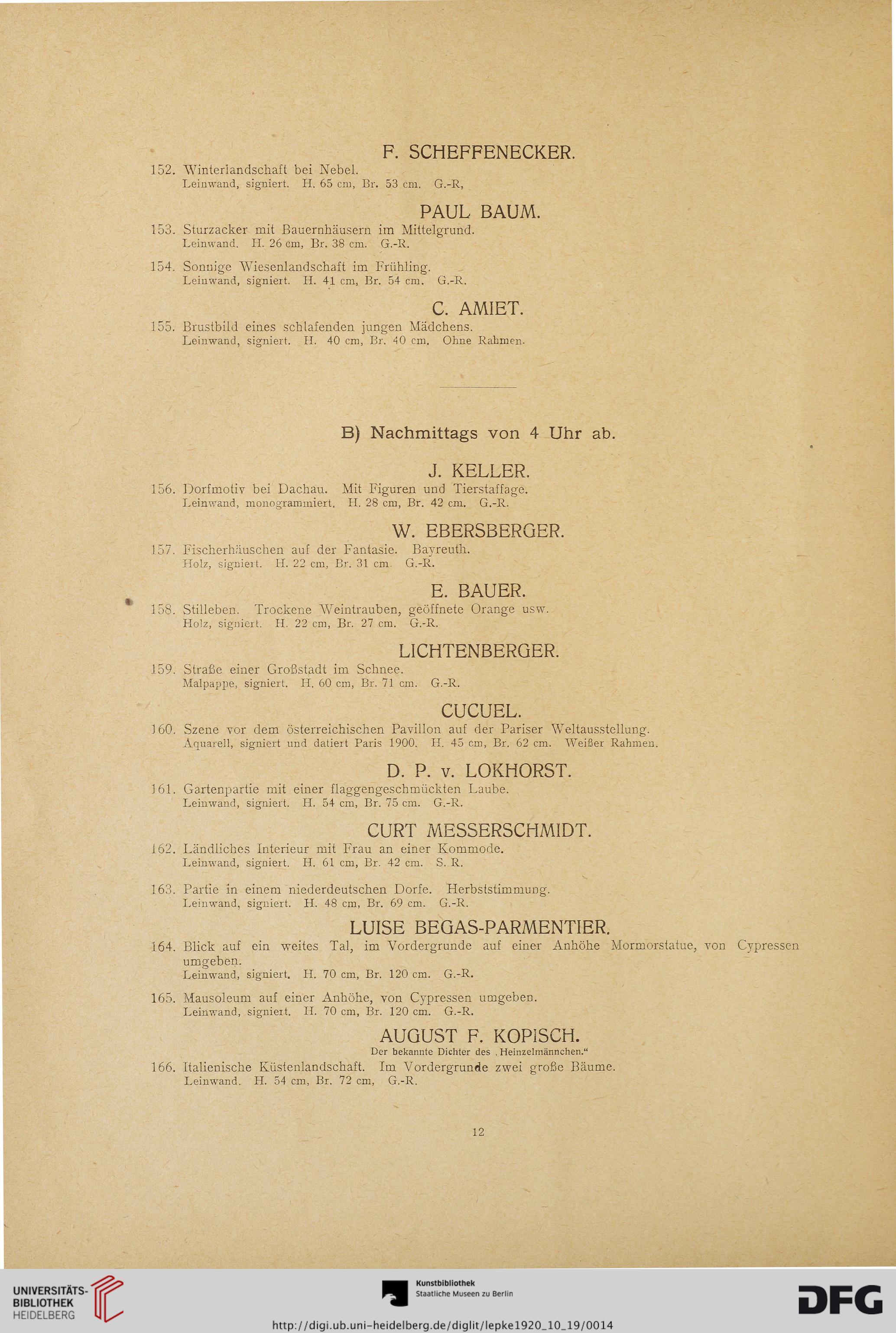 Rudolph Lepke\'s Kunst-Auctions-Haus: Gemälde, Aquarelle, Pastelle ...