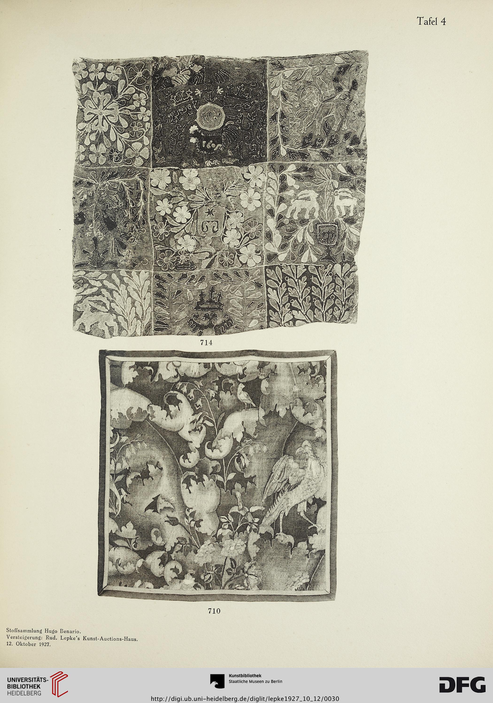 rudolph lepke 39 s kunst auctions haus hrsg stoffsammlung hugo benario berlin gyptische. Black Bedroom Furniture Sets. Home Design Ideas