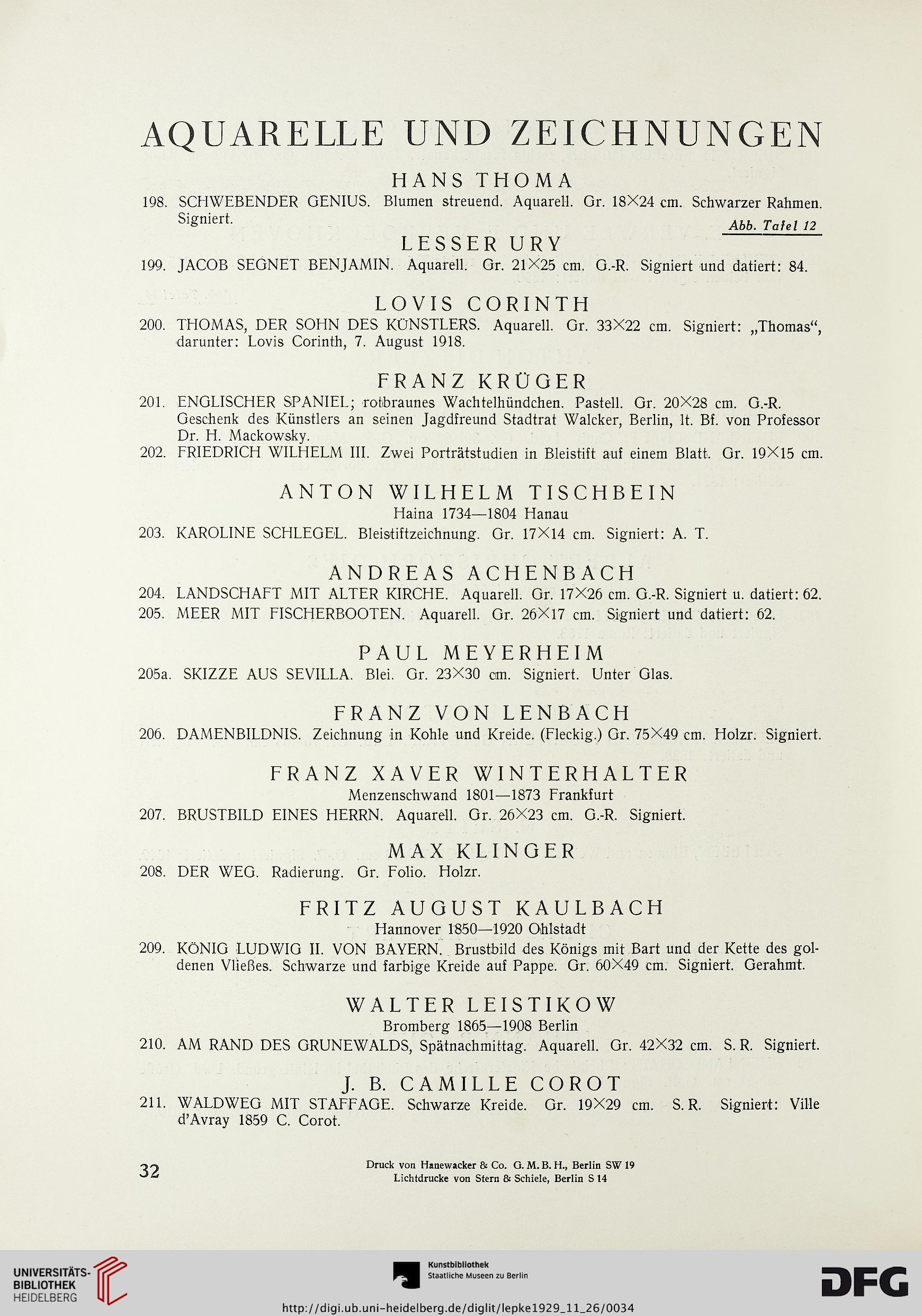 Rudolph Lepke\'s Kunst-Auctions-Haus <Berlin> [Hrsg.]: Gemälde ...