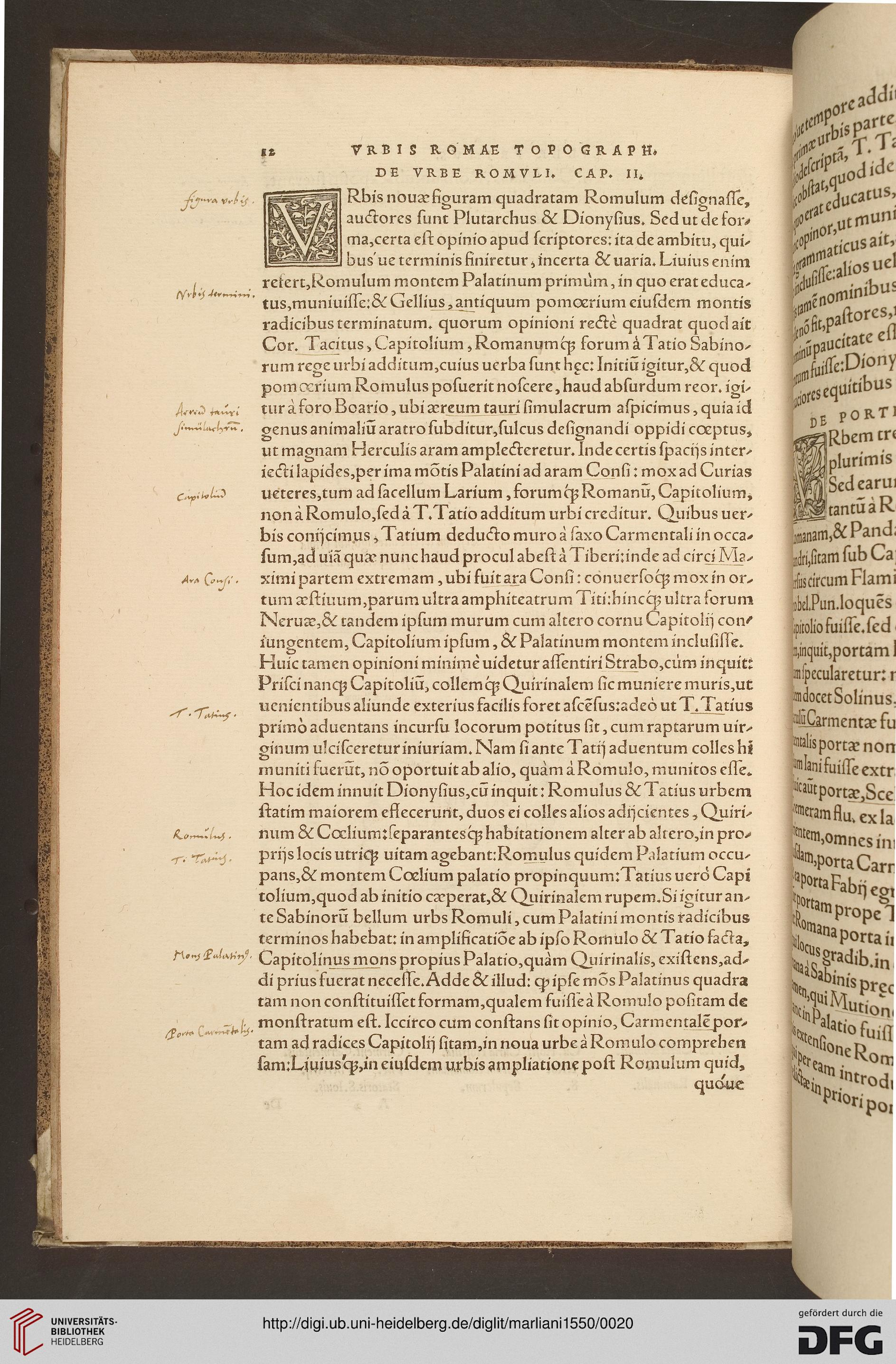 marliani bartolomeo vrbis romae topographia ad franciscum gallorum regem eiusdem urbis. Black Bedroom Furniture Sets. Home Design Ideas