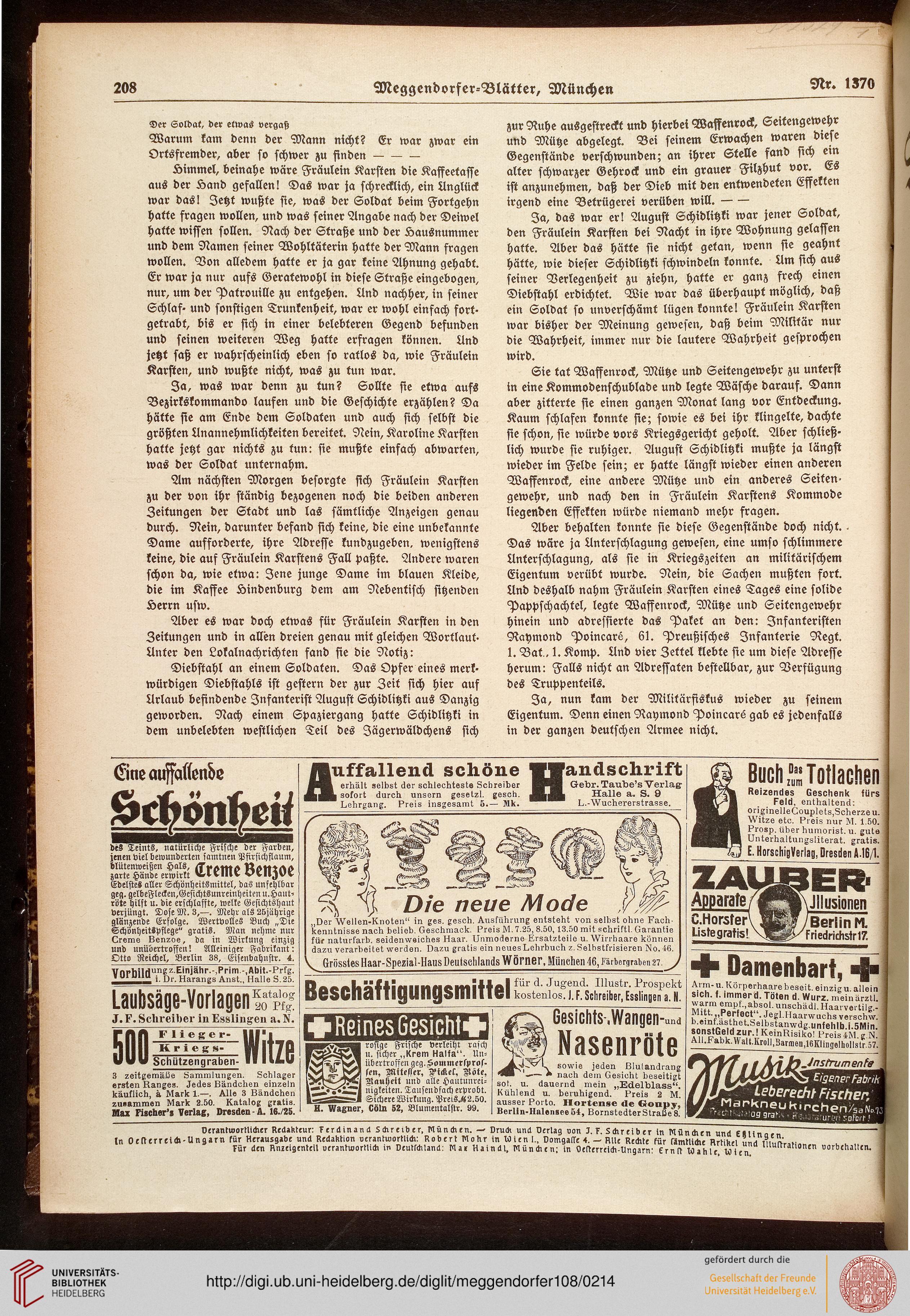 Meggendorfer-Blätter (108.1917 (Nr. 1358-1370))