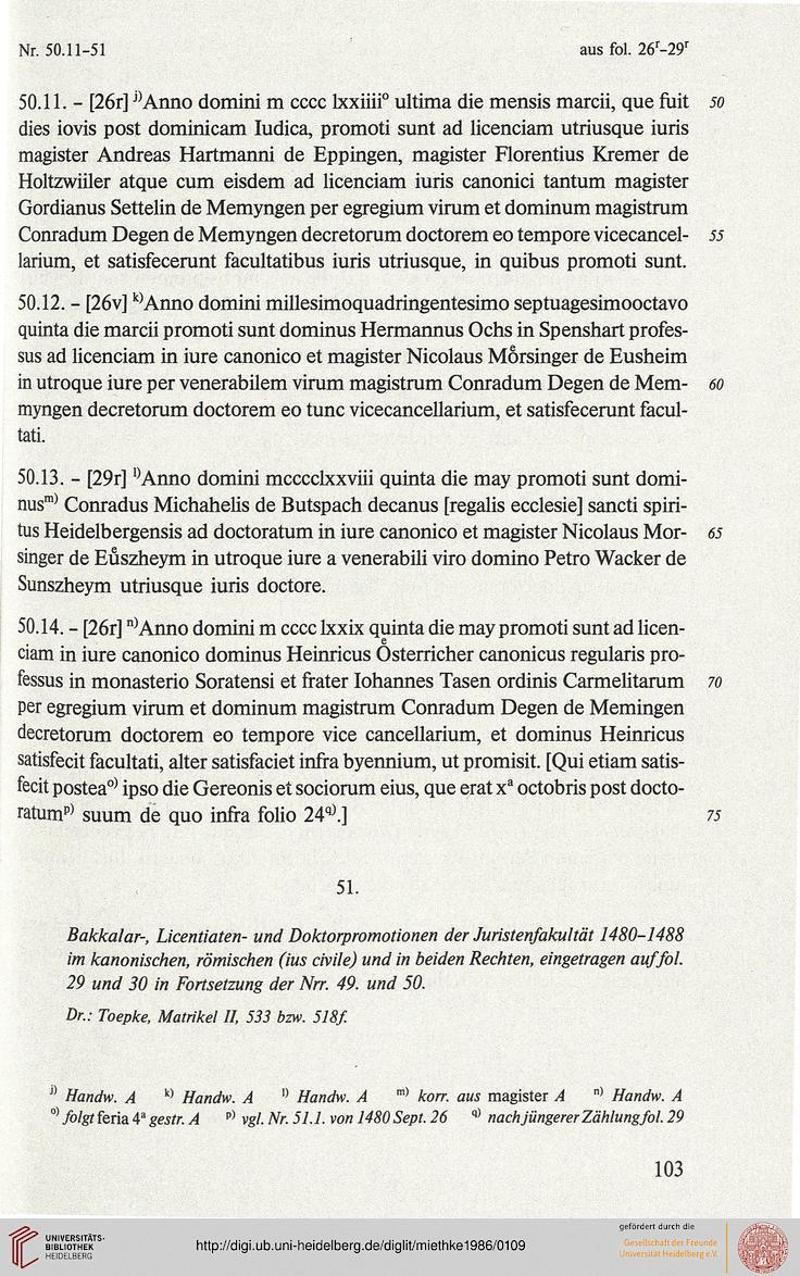 Miethke, Jürgen / Lutzmann, Heiner [Hrsg.]: Die Rektorbücher der Universität
