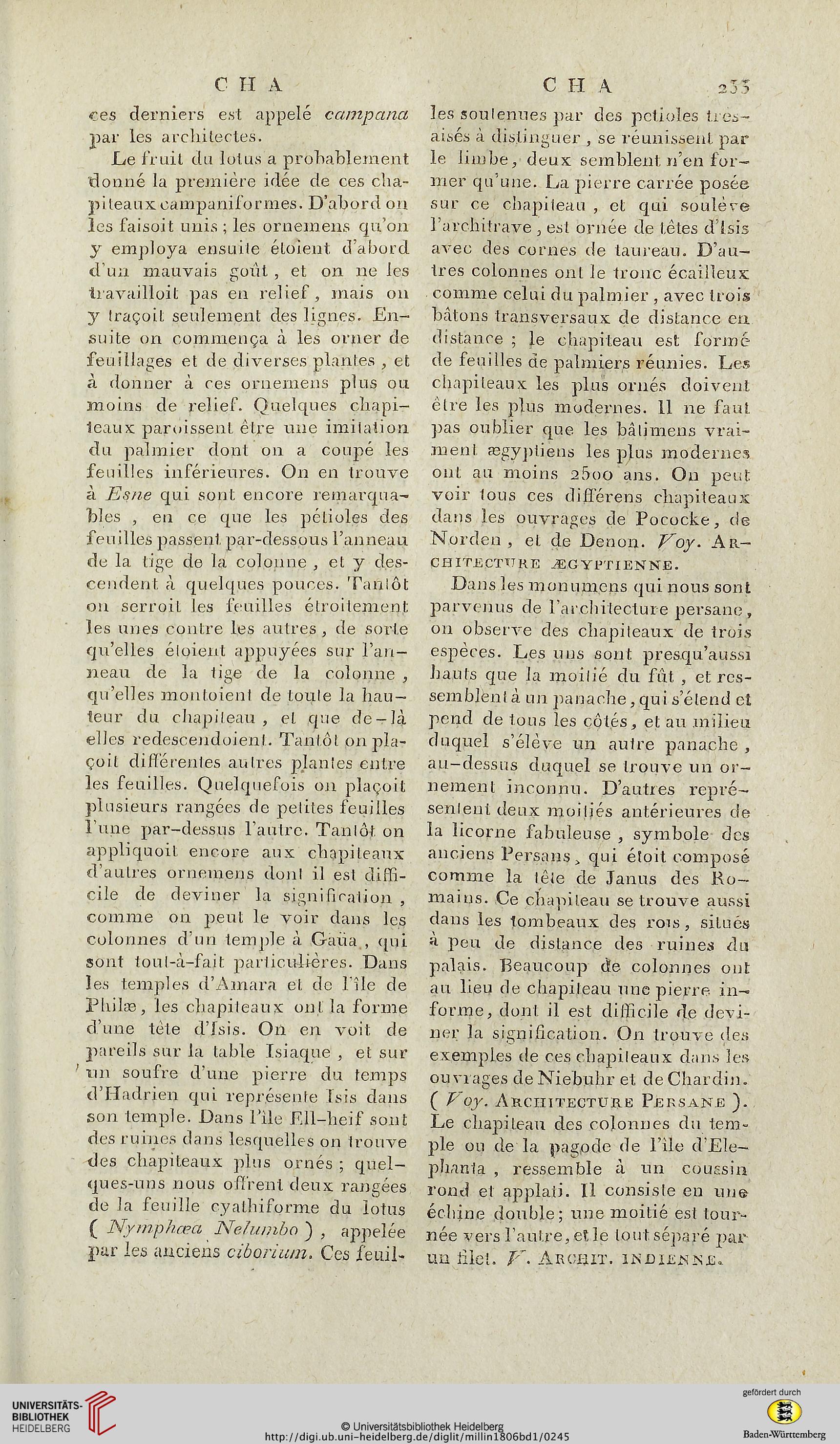 Millin aubin l dictionnaire des beaux arts band 1 for Dictionnaire des architectes