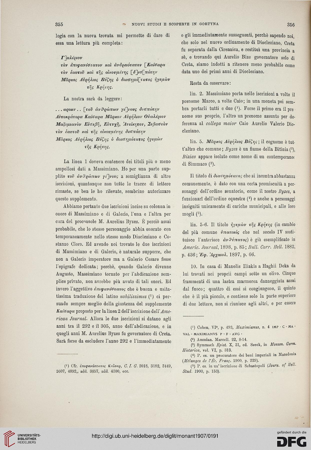 Accademia Nazionale dei Lincei  Rom   Hrsg.   Monumenti antichi (18.1907) 577252f139f1