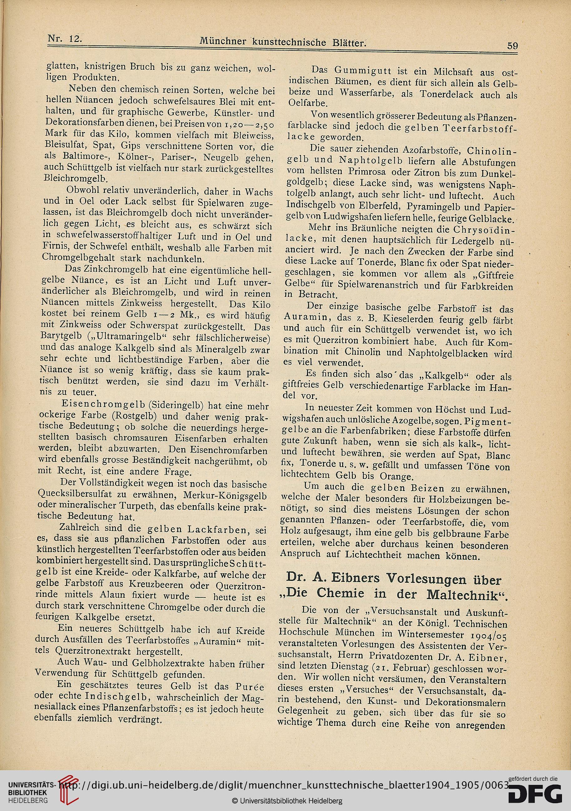Münchner Kunsttechnische Blätter 11904 1905