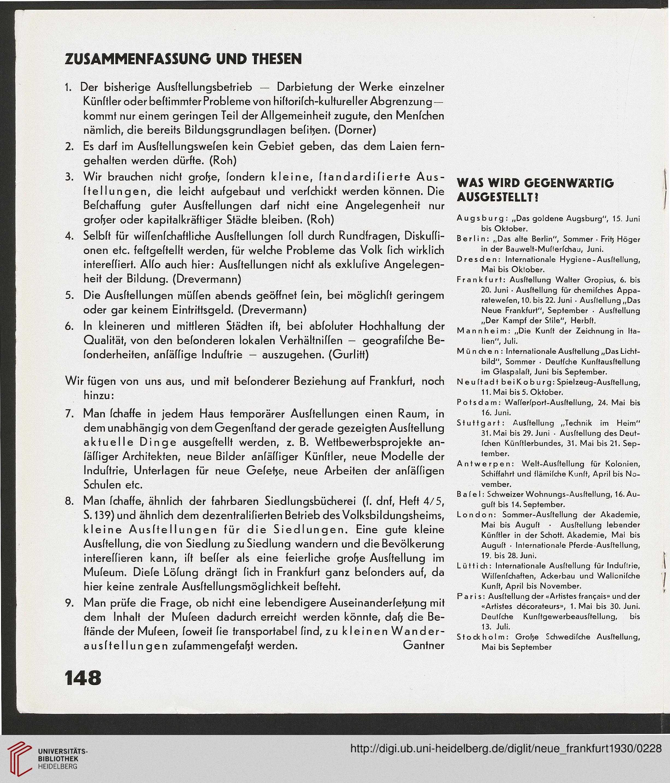 Das Neue Frankfurt Internationale Monatsschrift Für Die Probleme