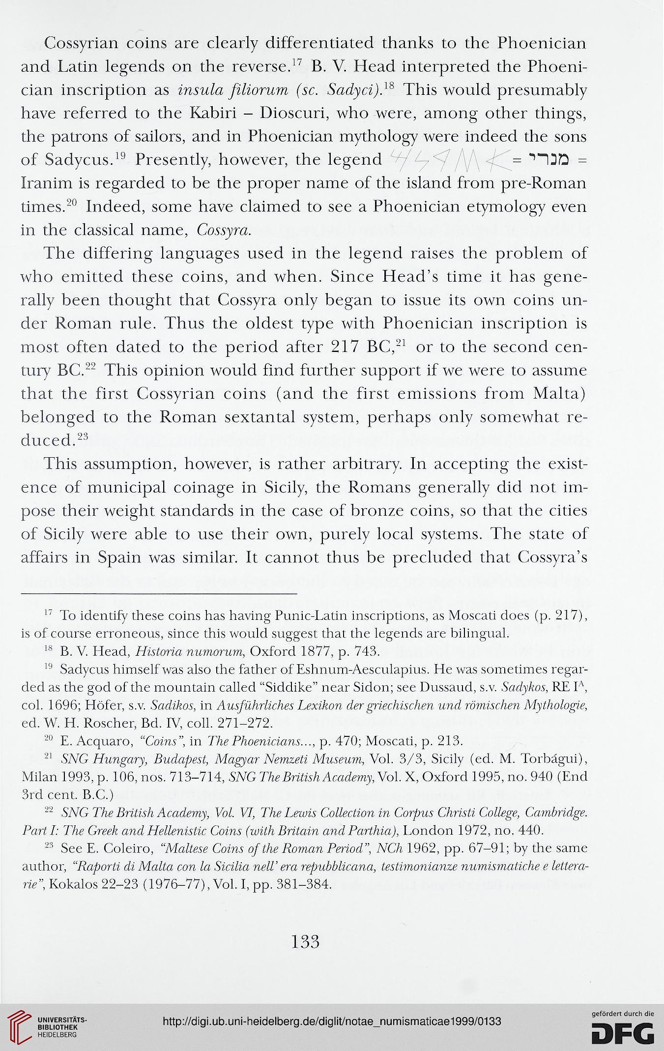 Notae Numismaticae - Zapiski Numizmatyczne (3-4 1999)