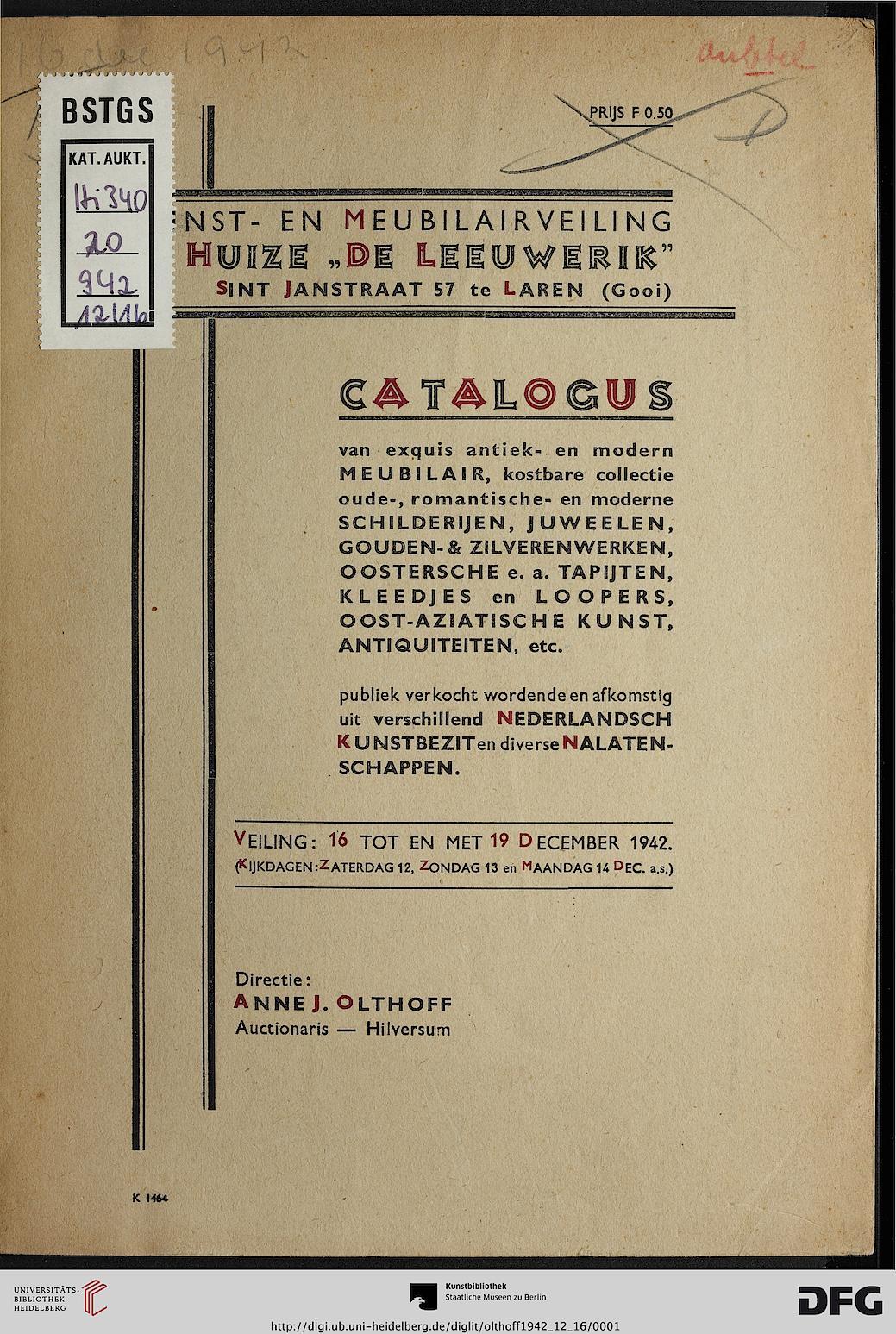 Anne j olthoff hrsg ge llustreerde catalogus van een collectie kostbare oude romantische - Modern meubilair en oude ...