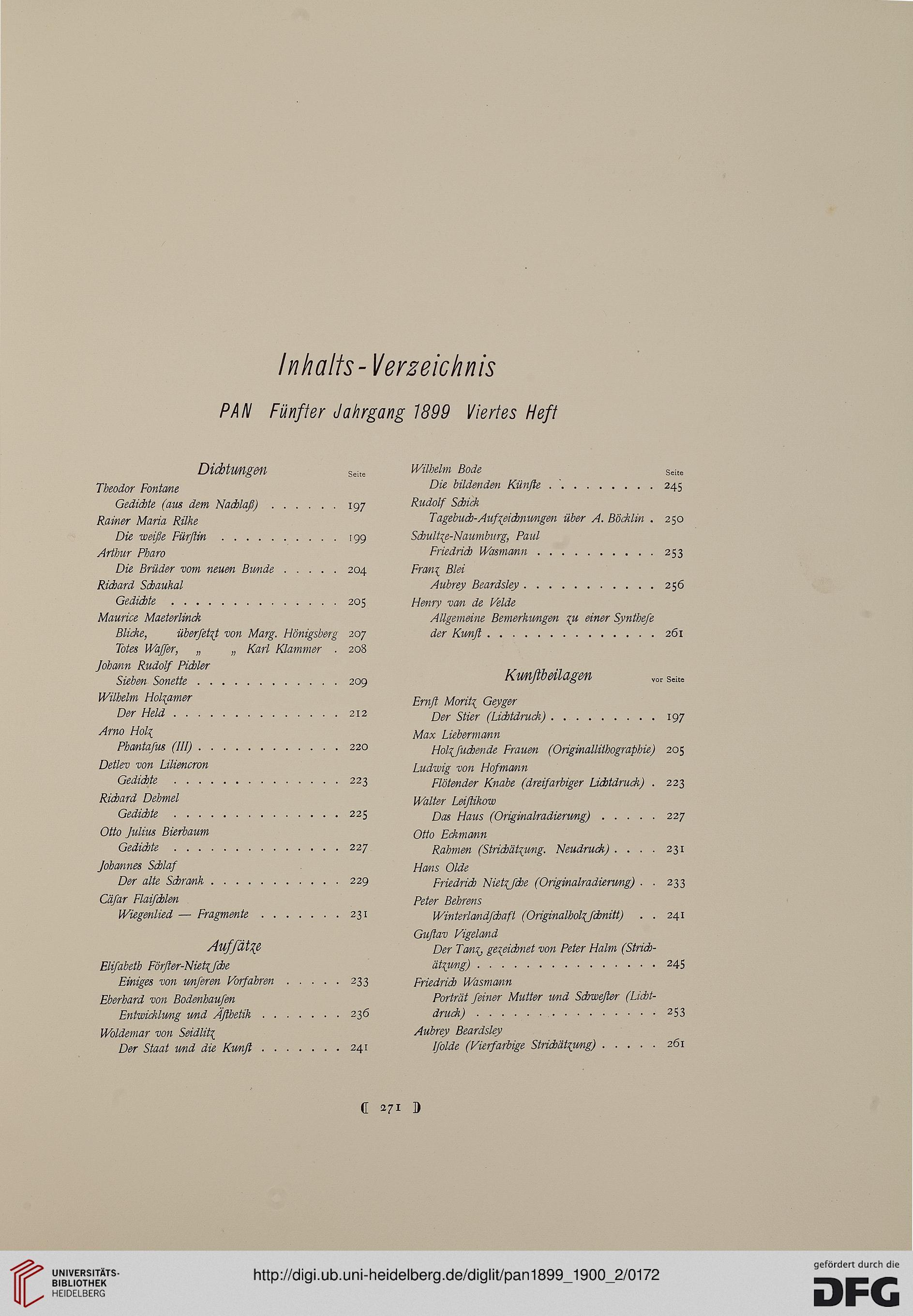 Pan <Berlin> (5.1899-1900 (Heft III und IV))