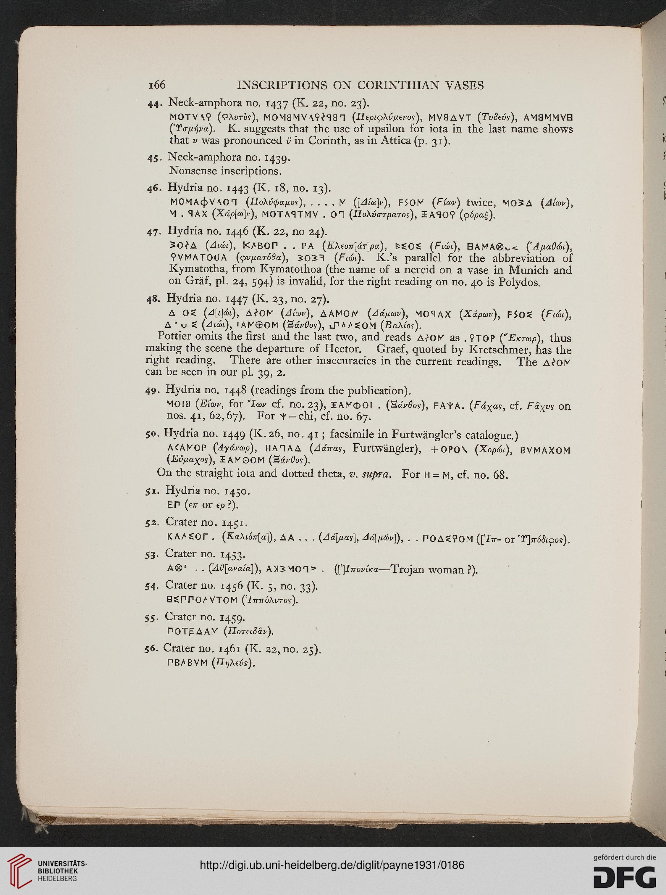 Payne, Humfry: Necrocorinthia: a study of Corinthian art in