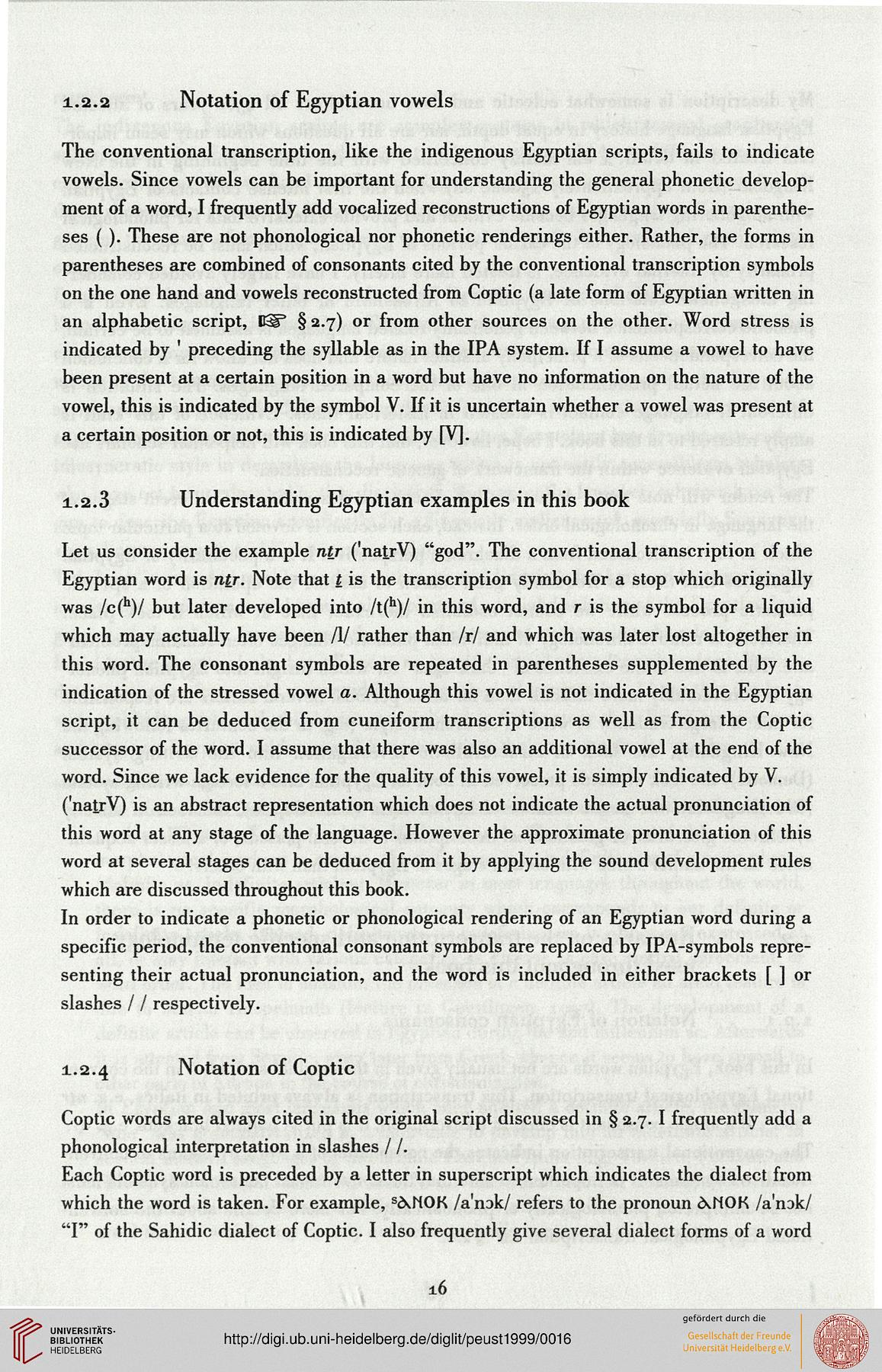Peust, Carsten: Egyptian phonology: an introduction to the