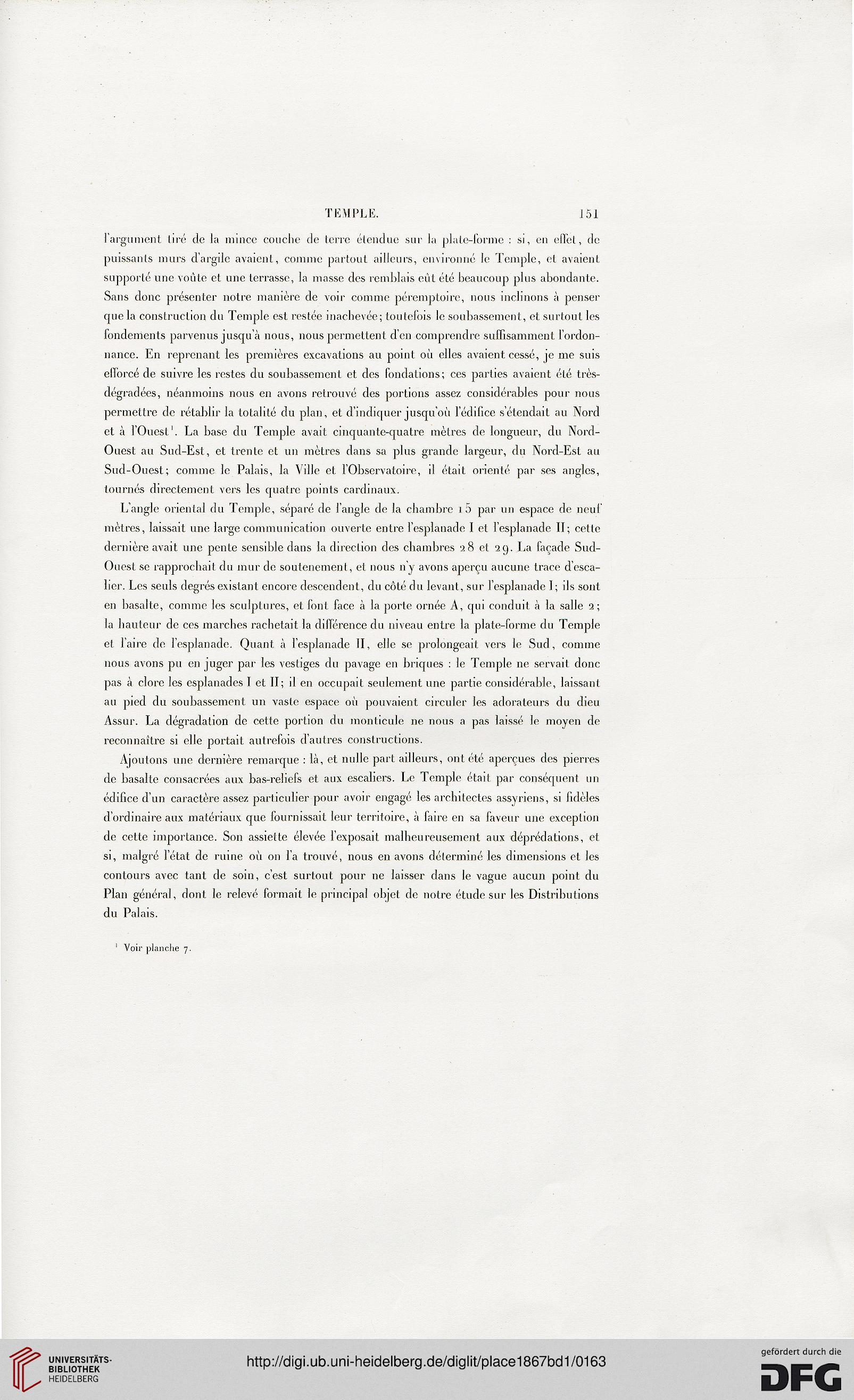 Place, Victor: Ninive et l\'Assyrie (Band 1) (Paris, 1867)