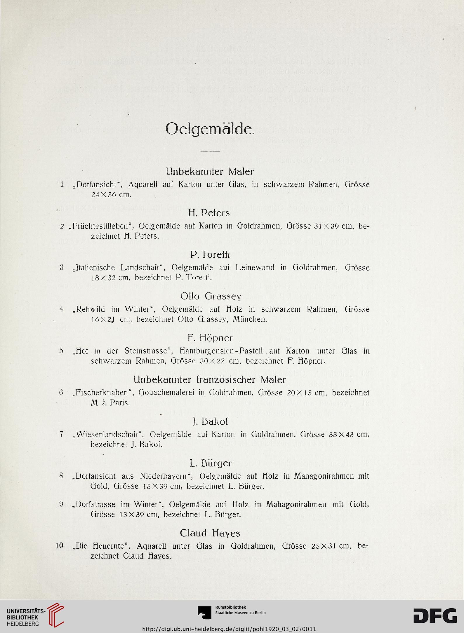 Kunst-Auktionshaus G. Adolf Pohl <Hamburg> [Hrsg.]: Versteigerung ...