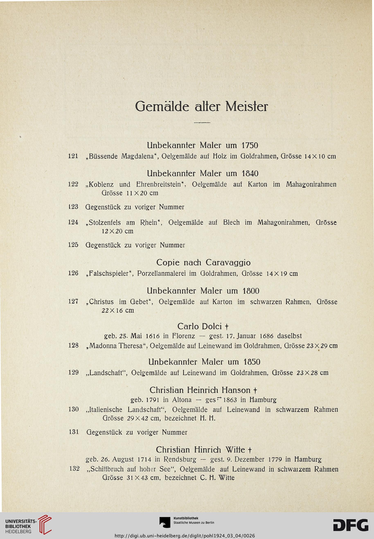 Kunst-Auktionshaus G. Adolf Pohl <Hamburg> [Hrsg.]: Gemälde ...