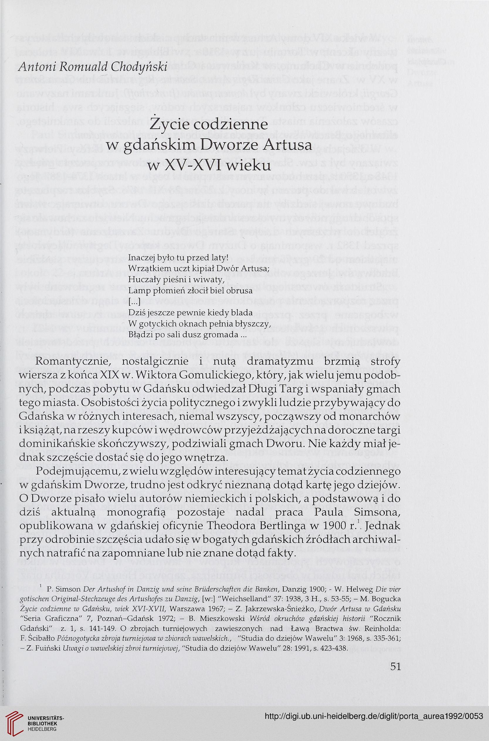 Instytut Historii Sztuki Danzig Hrsg Zakład Historii