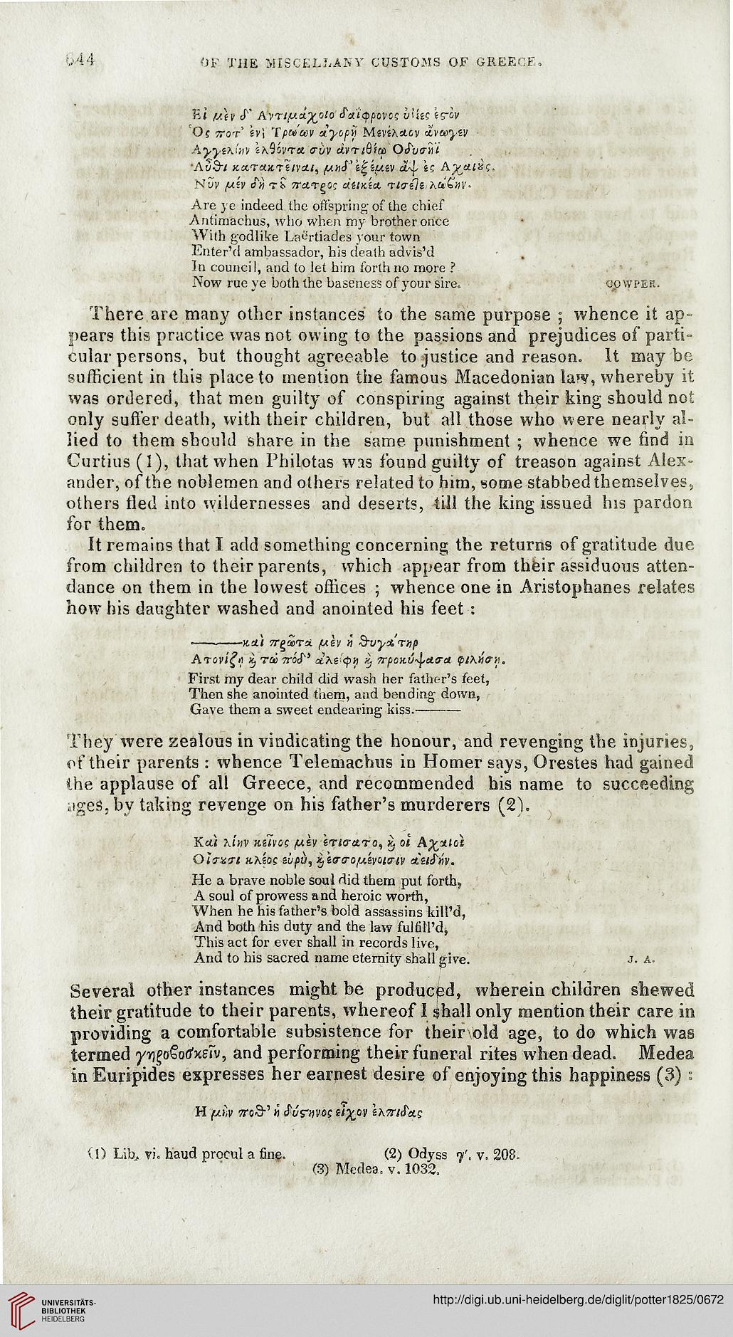 Potter, John; Anthon, Charles [Hrsg.]: Archaeologia Graeca ...