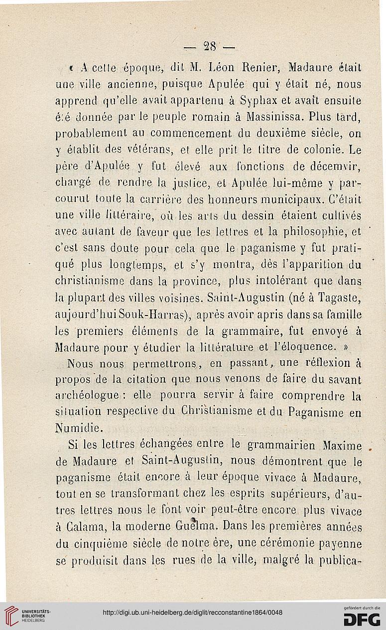 Recueil Des Notices Et Memoires De La Societe Archeologique Province Constantine 1864