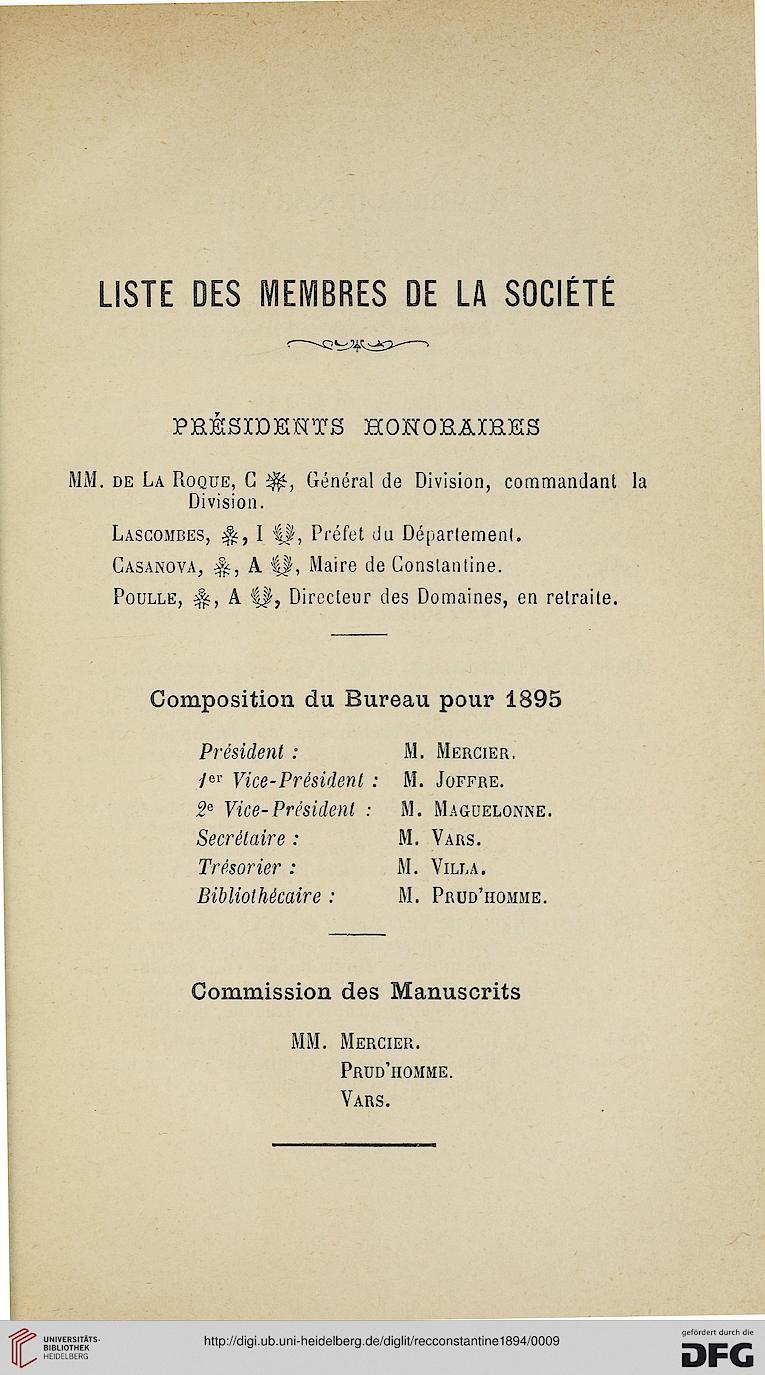 Recueil Des Notices Et Memoires De La Societe Archeologique Du Departement Constantine Ser 382918941895