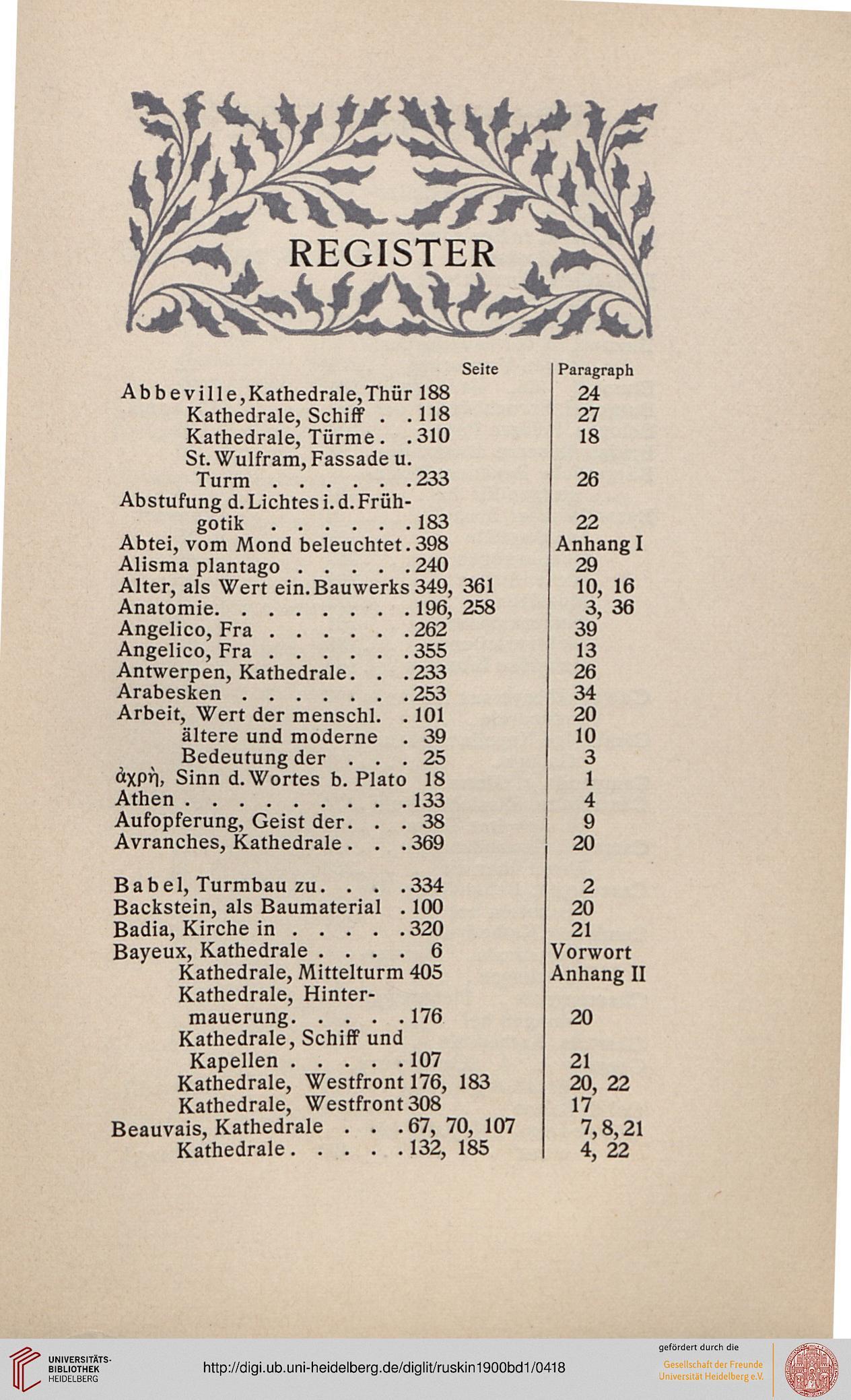 Ruskin, John: Ausgewählte Werke in vollständiger Übersetzung (Band 1 ...