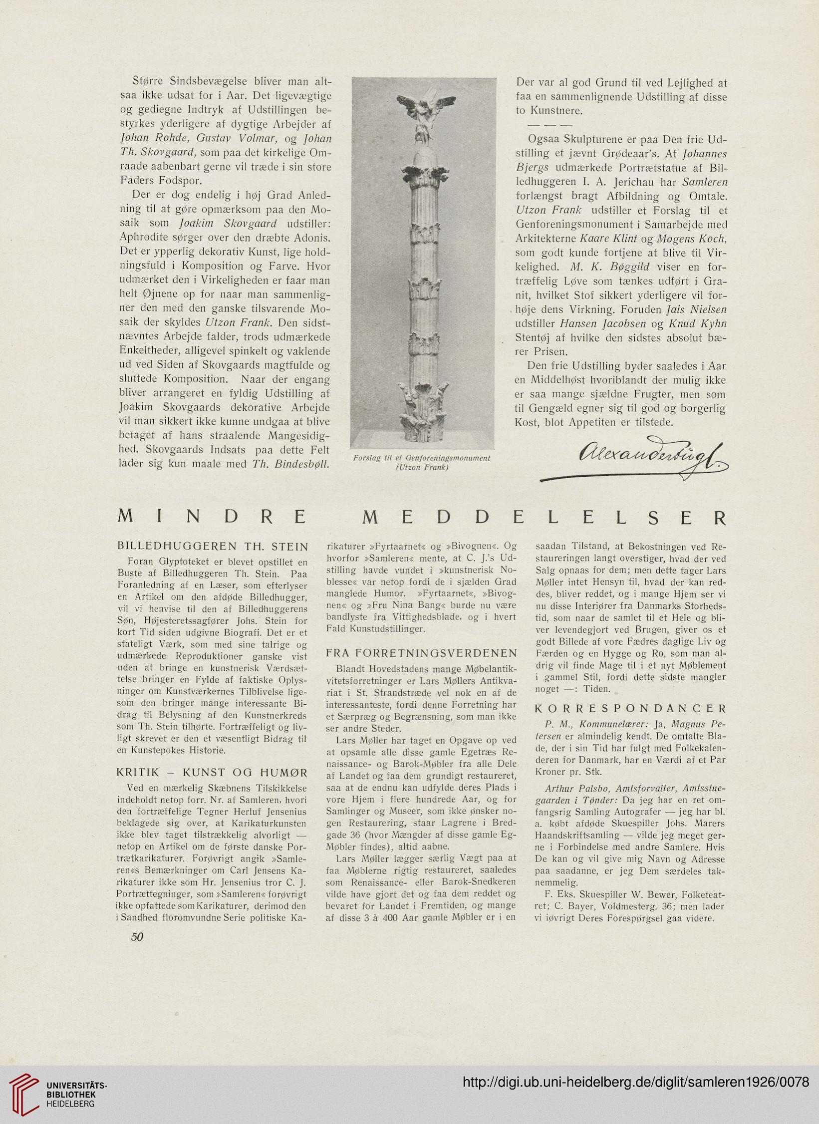 Samleren Kunsttidsskrift 31926