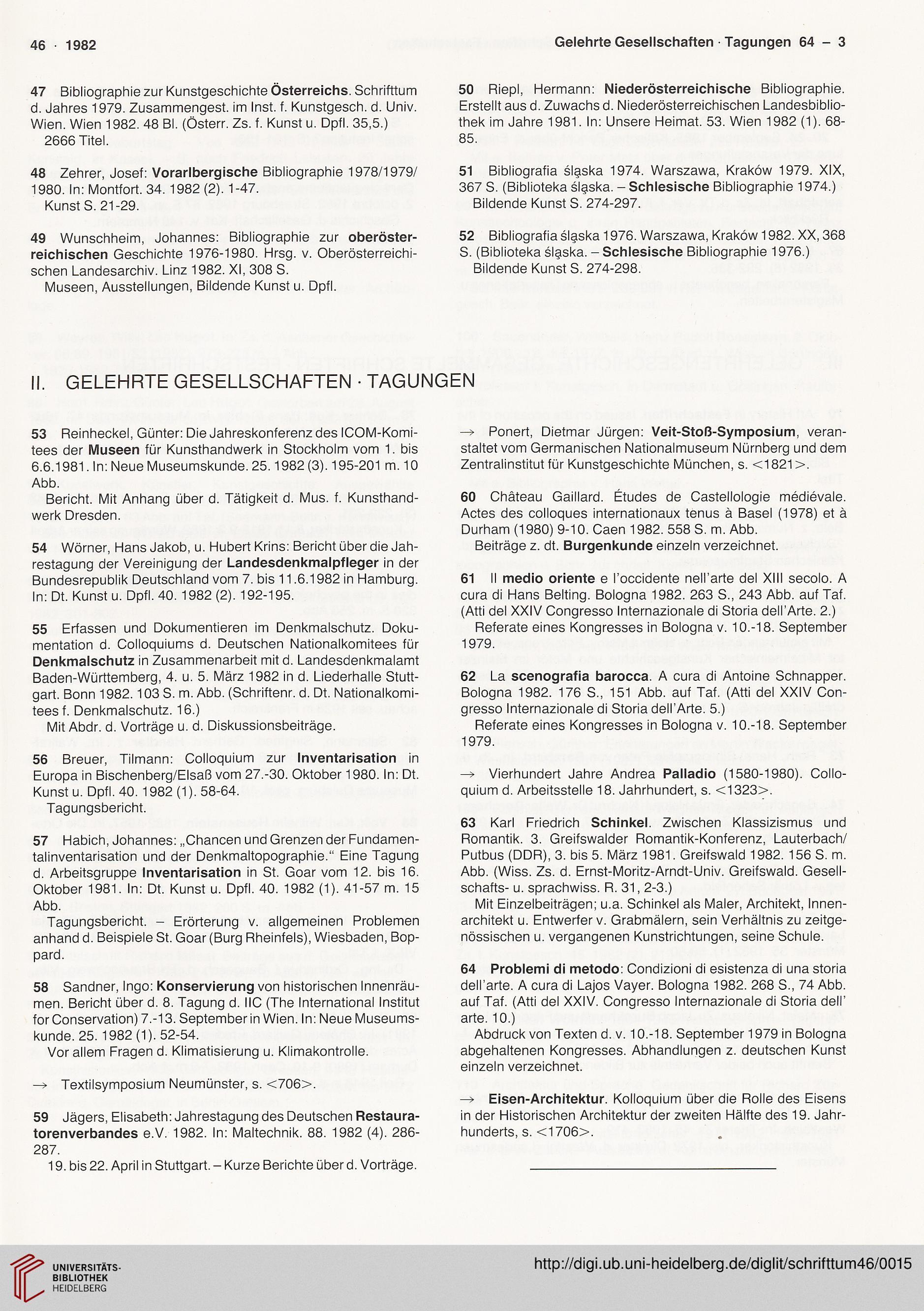 Deutscher Verein Fur Kunstwissenschaft Hrsg Schrifttum Zur Deutschen Kunst 46