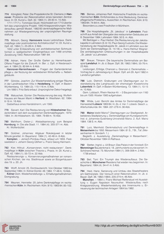 Deutscher Verein für Kunstwissenschaft [Hrsg ]: Schrifttum