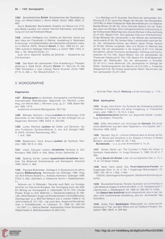Bibliografie aller ZEICHEN Artikel