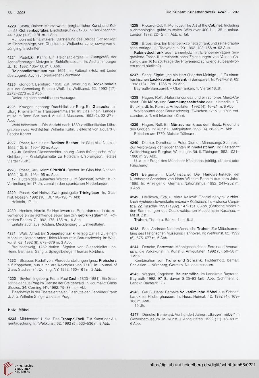 Deutscher Verein für Kunstwissenschaft [Hrsg.]: Schrifttum ...