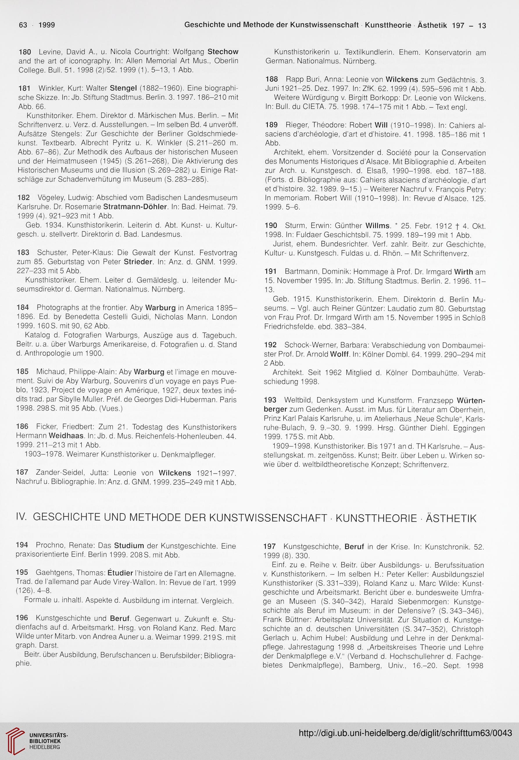 Deutscher Verein Fur Kunstwissenschaft Hrsg Schrifttum Zur